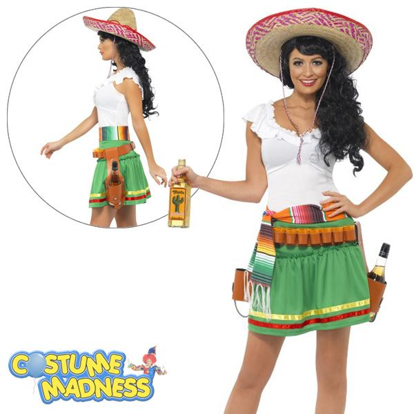 Tequila Shooter Girl Costume- Adult Woman Outfit Fancy