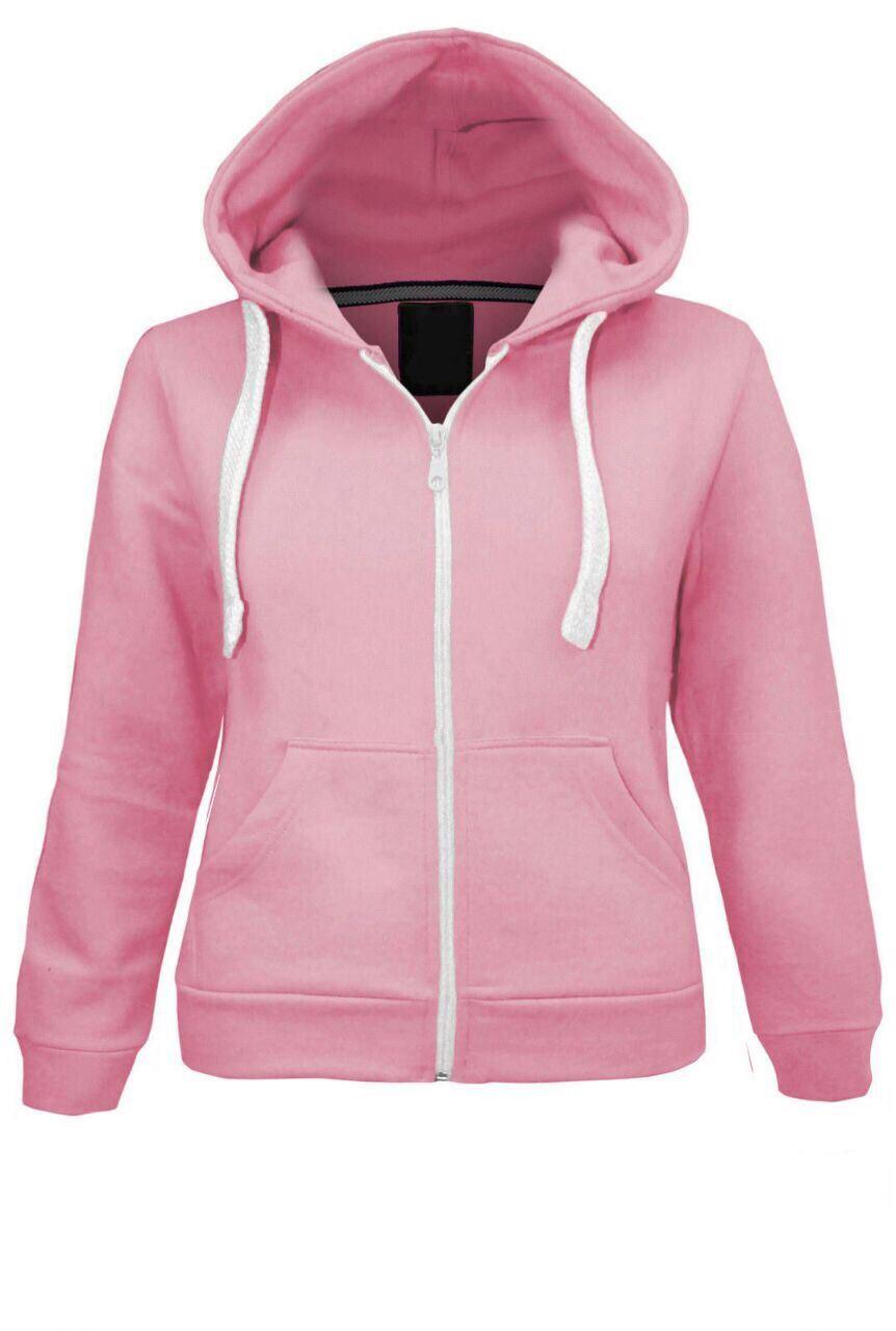 Kids Unisex Plain Fleece Hoodie Girls Boys Hoodies Sweatshirt ...