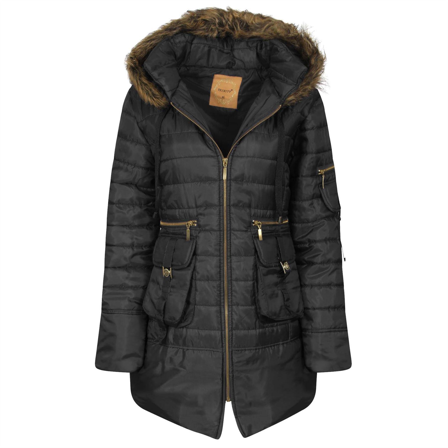 Womens padded parka coats