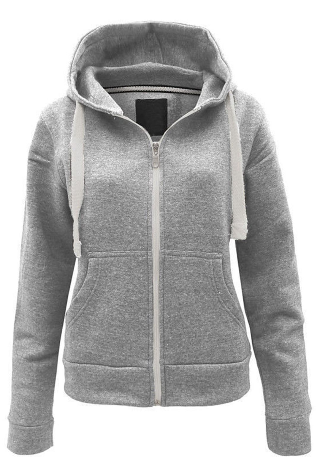 Womens Zip Up Hooded Sweater Her Sweater