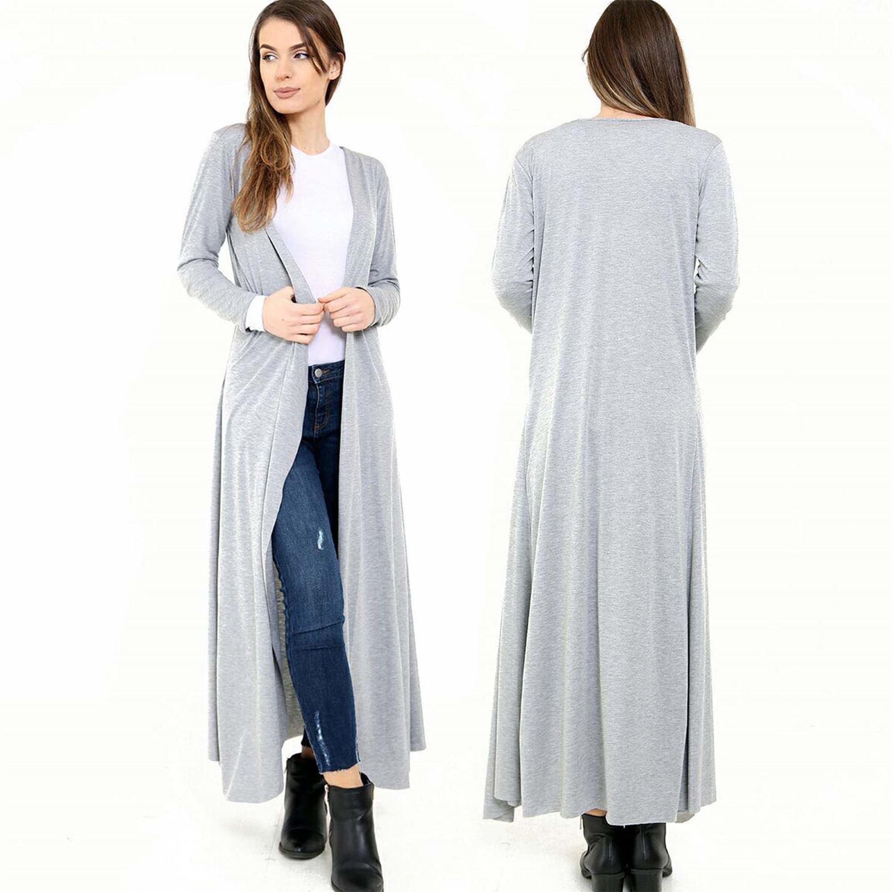 Womens Open Front MaxiFloaty Long Sleeve Cardigan Casual Jacket ...