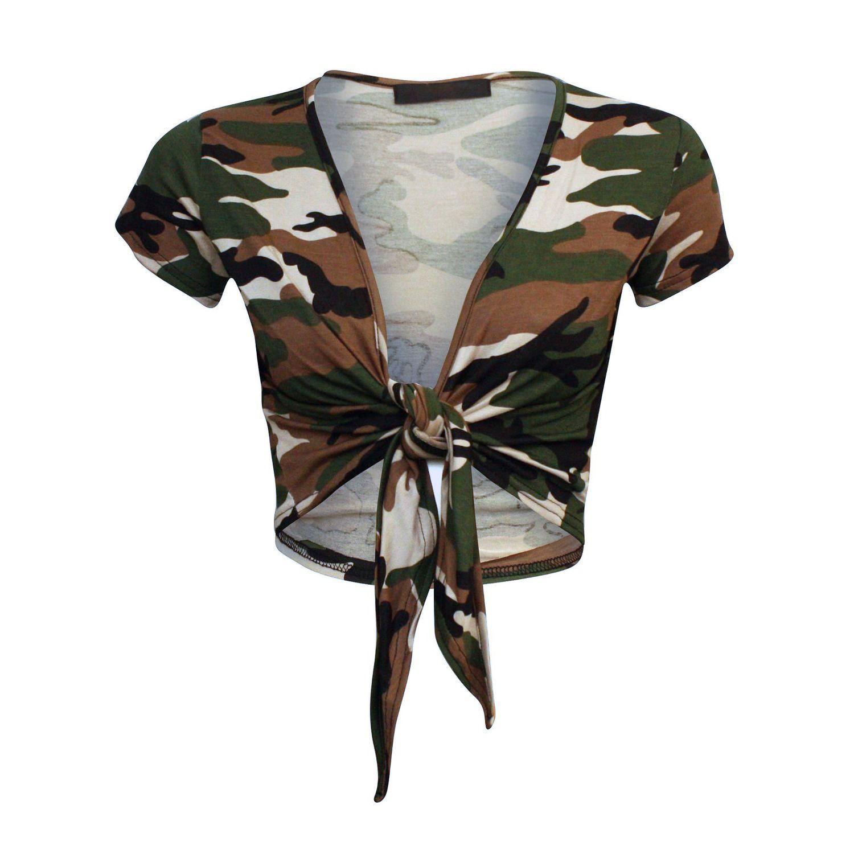Ladies Women Plus Size Camouflage Army Sleeveless Vest Top