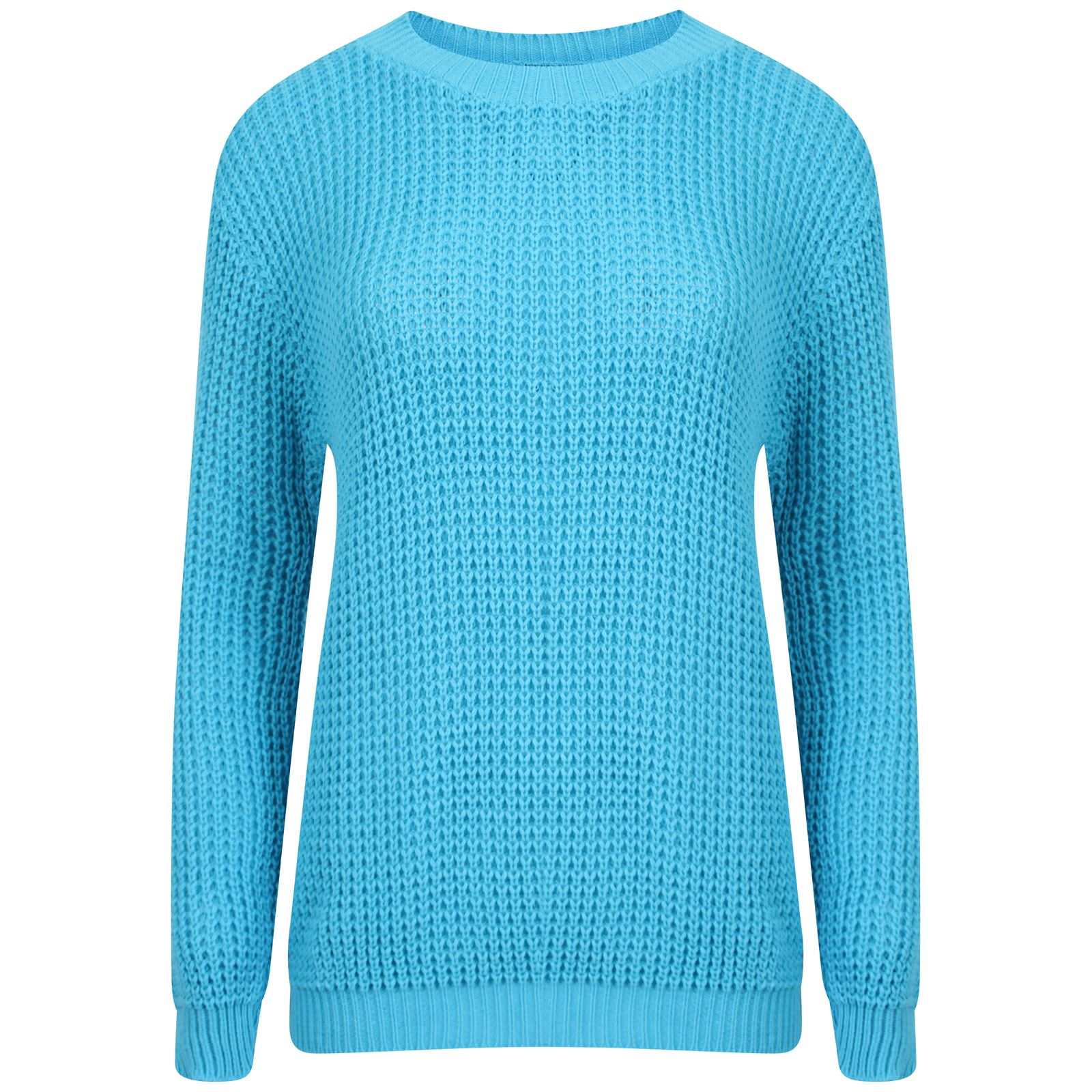 Knitting Pattern Plain Jumper : New Ladies Womens Plain Oversized Baggy Knitted Jumper Chunky Sweater Top Rib...
