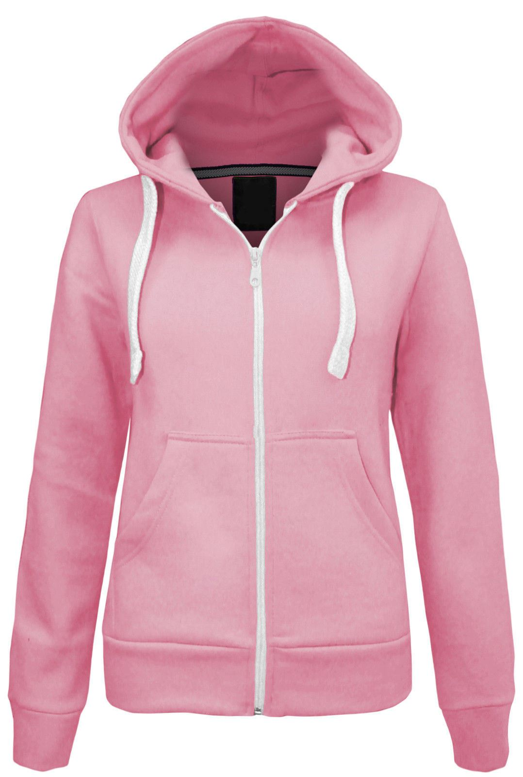 Womens Pink Hoodie Sweatshirt Fashion Ql