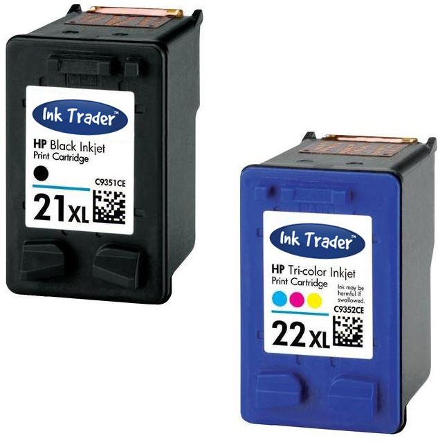 hp 21xl black 22xl colour ink cartridge for deskjet f4180 inkjet printer ebay. Black Bedroom Furniture Sets. Home Design Ideas