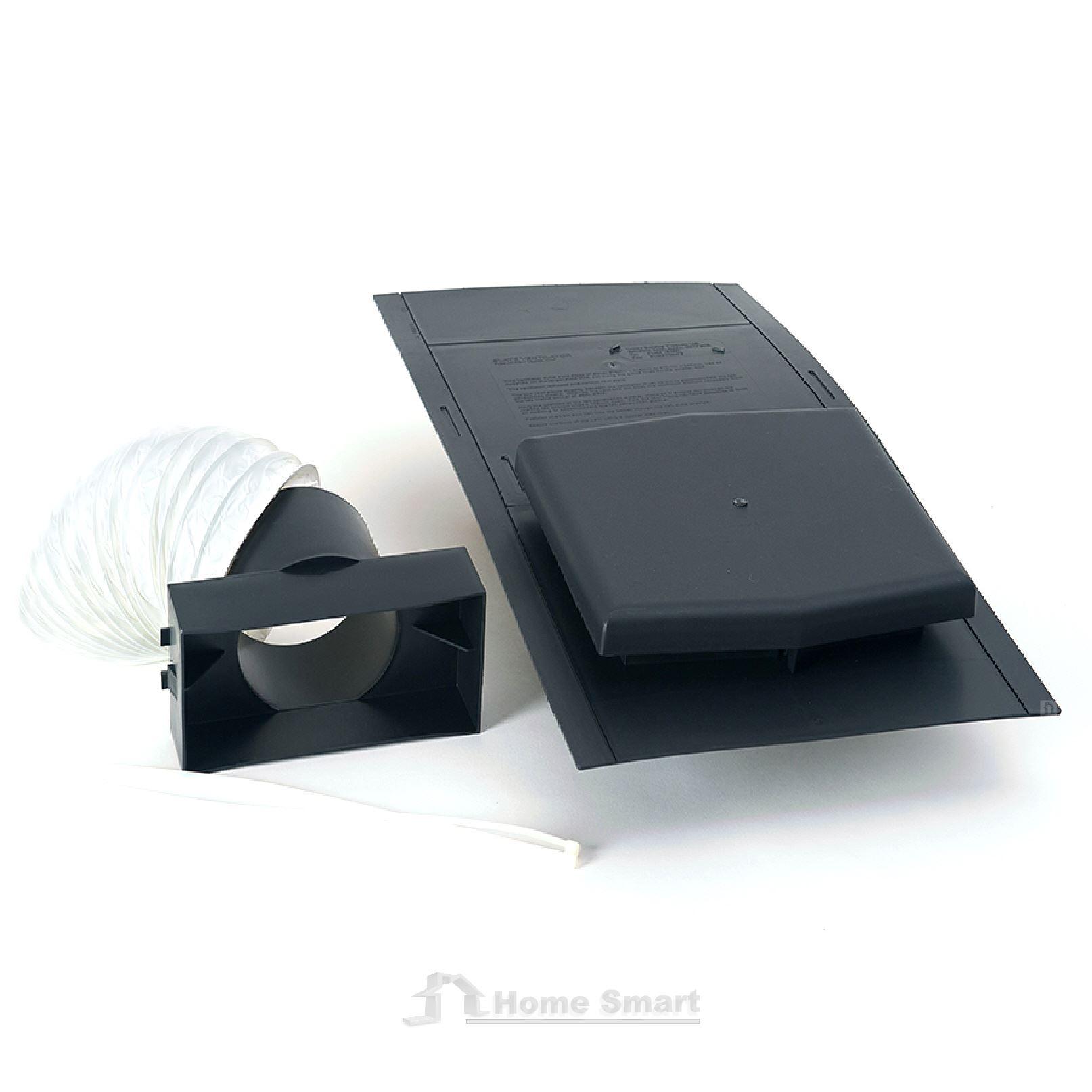 Slate Roof Tile Vent Inline Extractor Shower Fan Kit Ventilation Bath