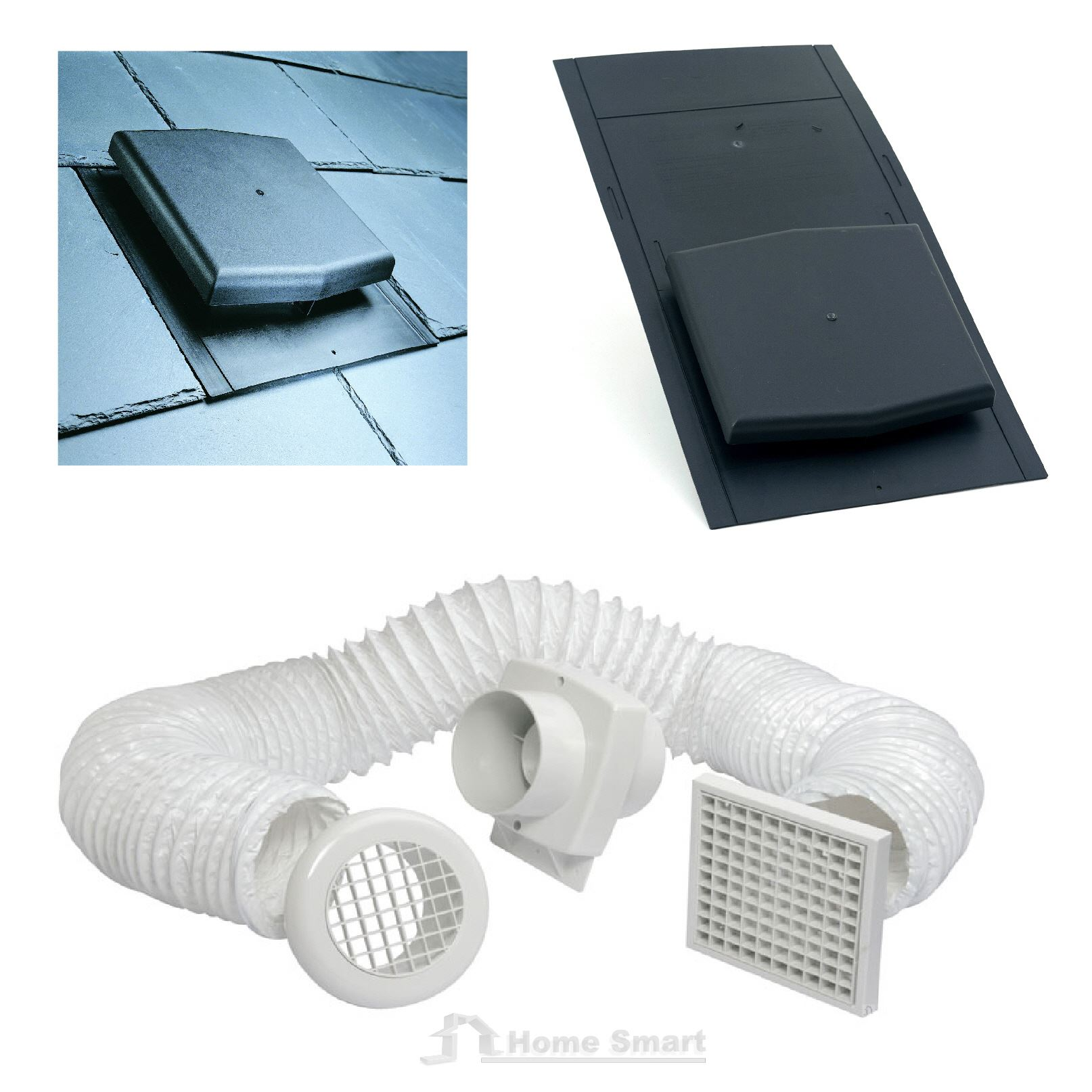 #3B6F90 Slate Roof Tile Vent & Inline Timer Extractor Shower Fan  Most Effective 6205 Roof Vent Fans pictures with 1614x1614 px on helpvideos.info - Air Conditioners, Air Coolers and more