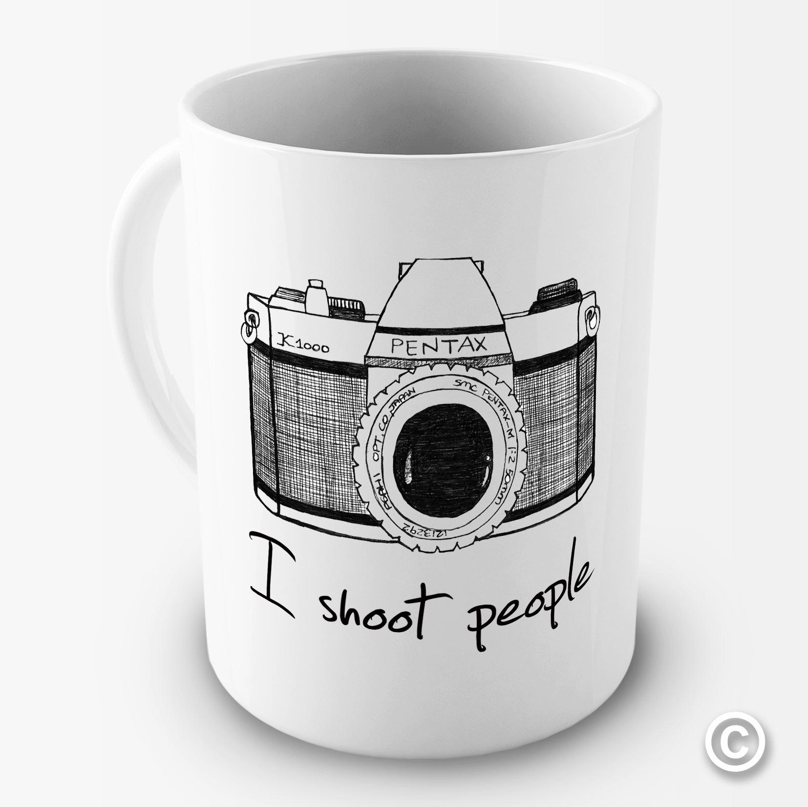 I shoot people camera photography novelty funny mug tea coffee gift office cup ebay - Funny office coffee mugs ...