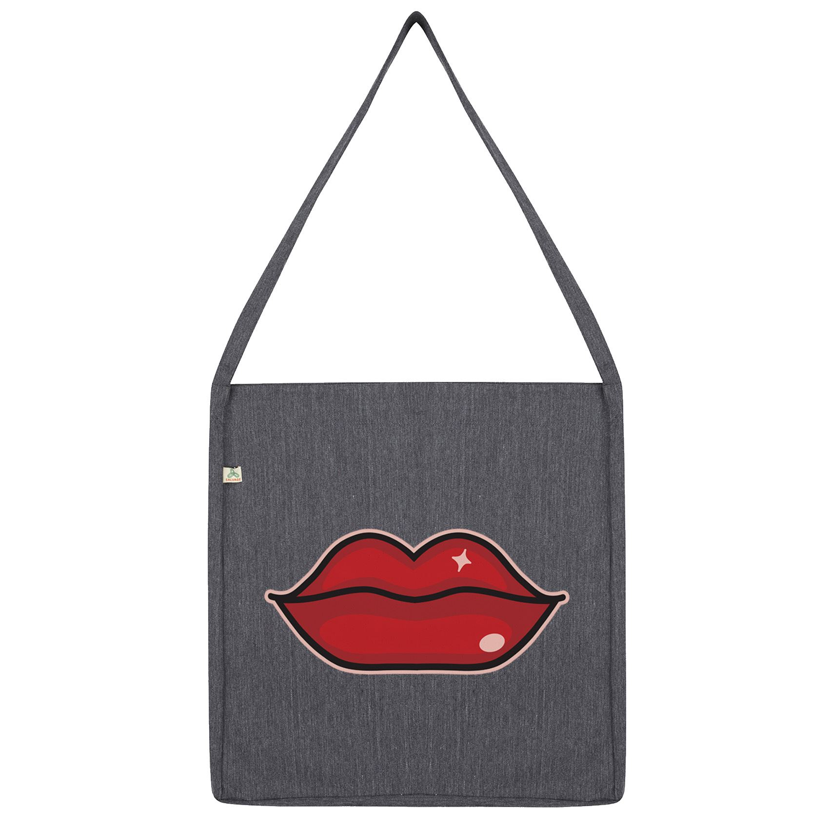 details about twisted envy sexy red lips tote bag