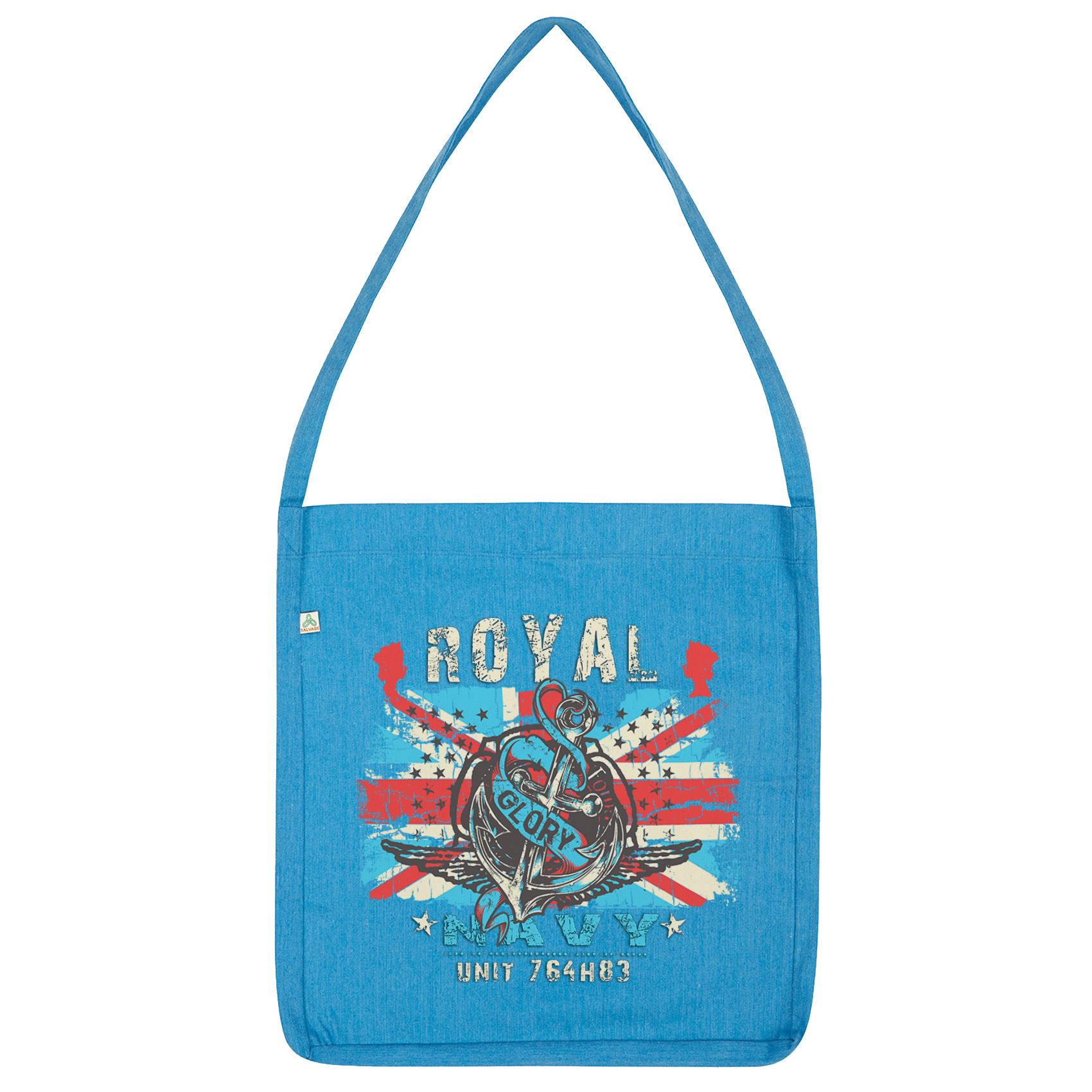details about twisted envy union jack royal navy tote bag
