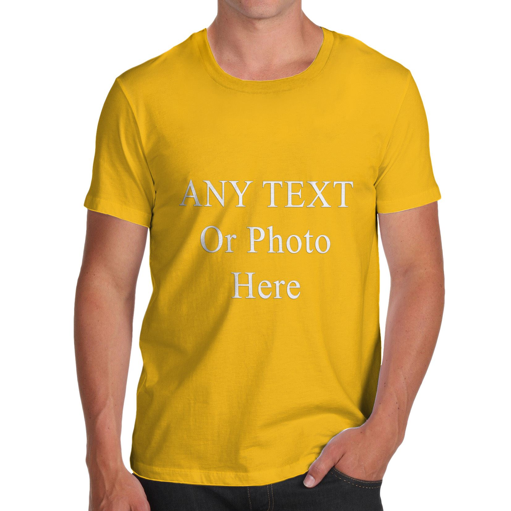 Mens custom printed personalised t shirts tee shirt stag for Sell t shirts for charity