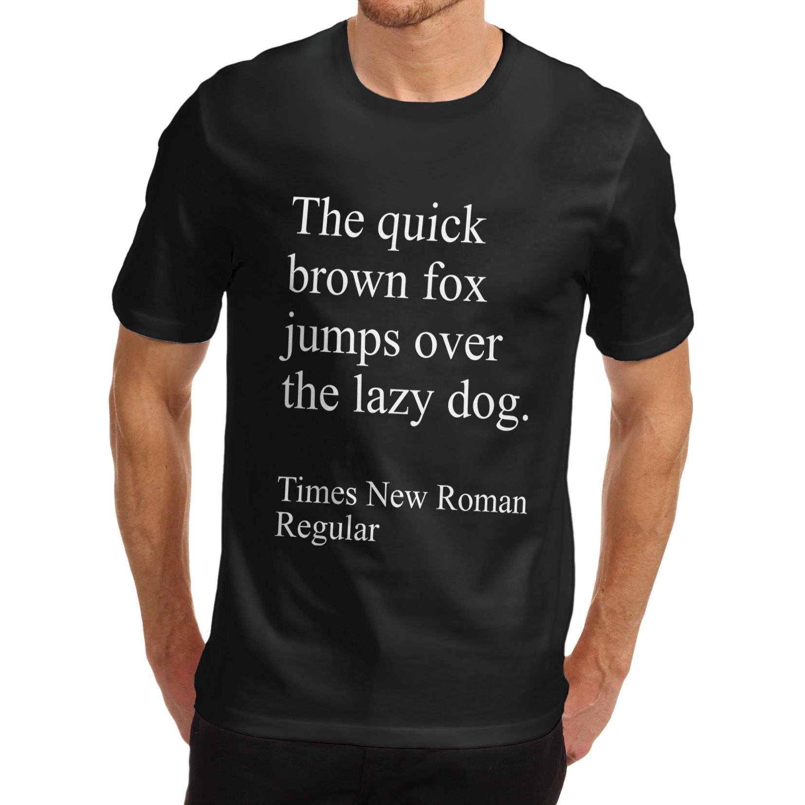 T-shirt design quick - Mens Cotton Funny Gift Design Quick Fox And