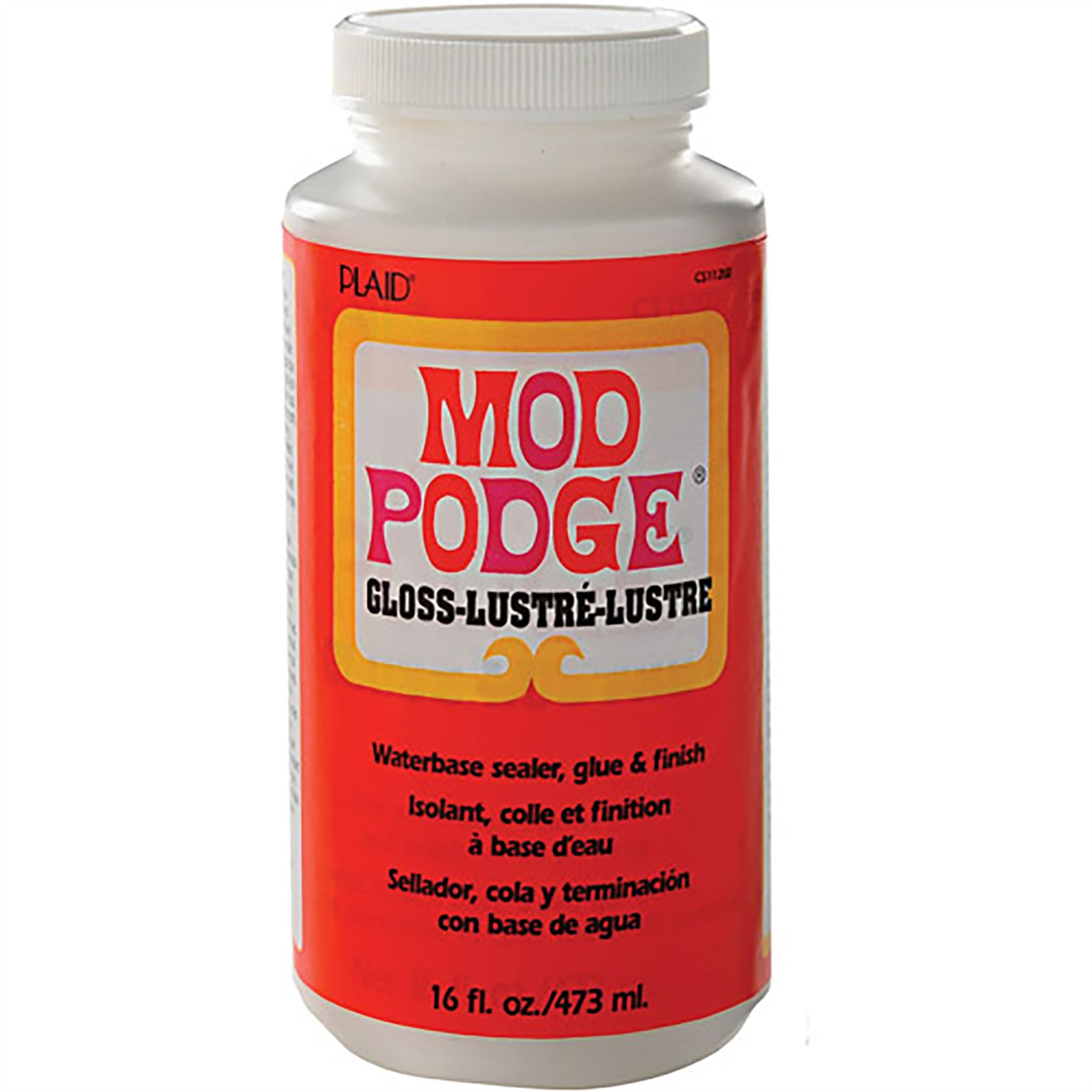 16oz mod podge gloss glue sealer wine glass glitter art for Best glue for craft foam