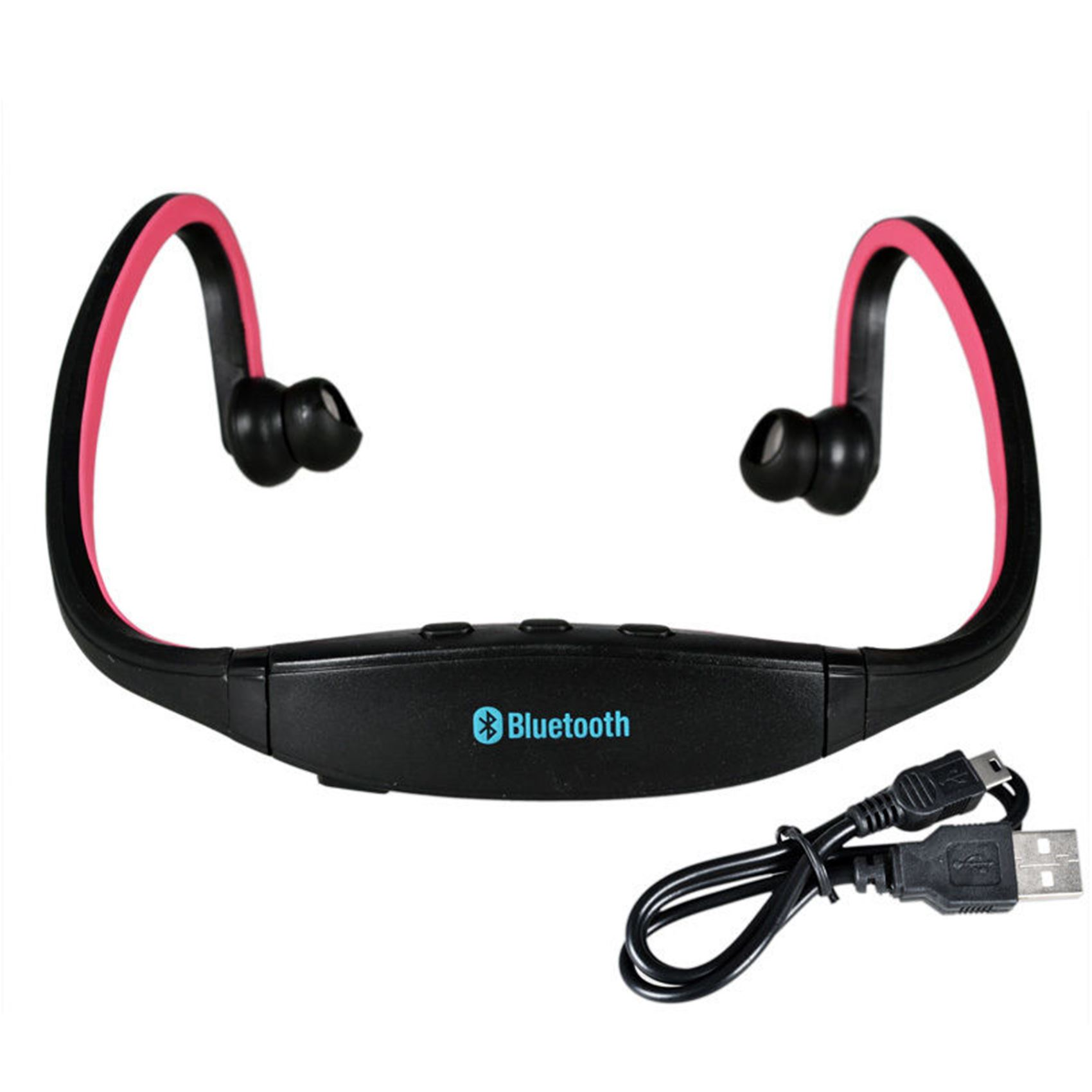 new stereo wireless bluetooth headphones headset sports. Black Bedroom Furniture Sets. Home Design Ideas