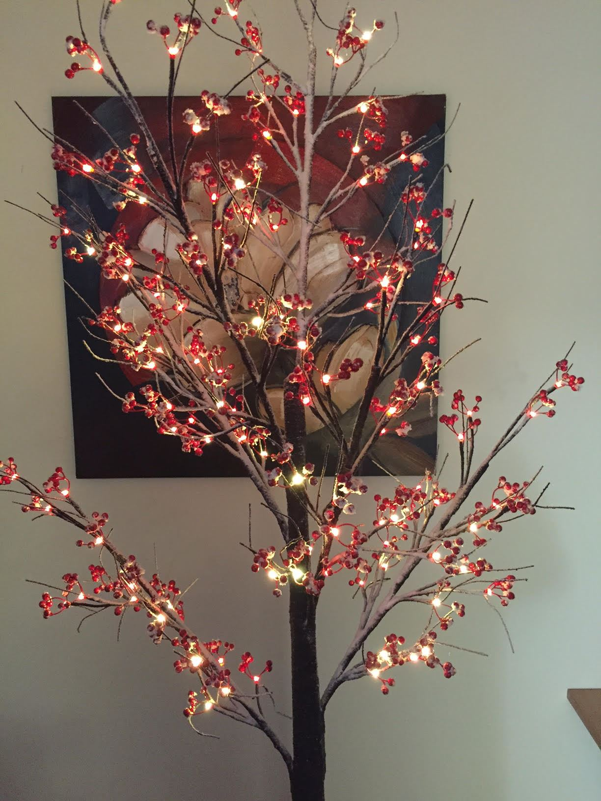 Christmas Pre Lit Twig 120 Led Floor Standing 7ft 210cm ...