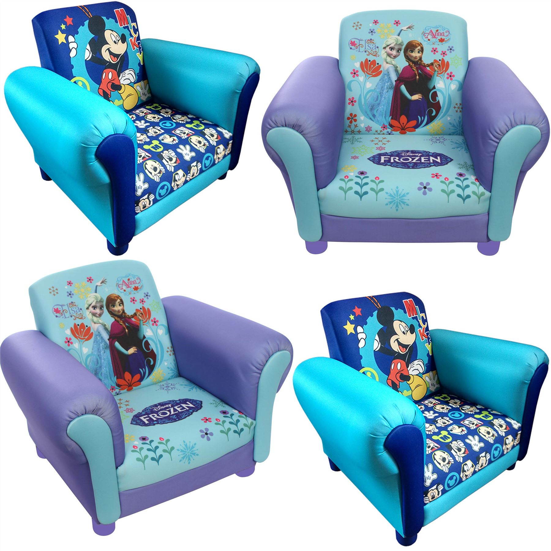 children 39 s princess frozen elsa anna upholstered chair. Black Bedroom Furniture Sets. Home Design Ideas