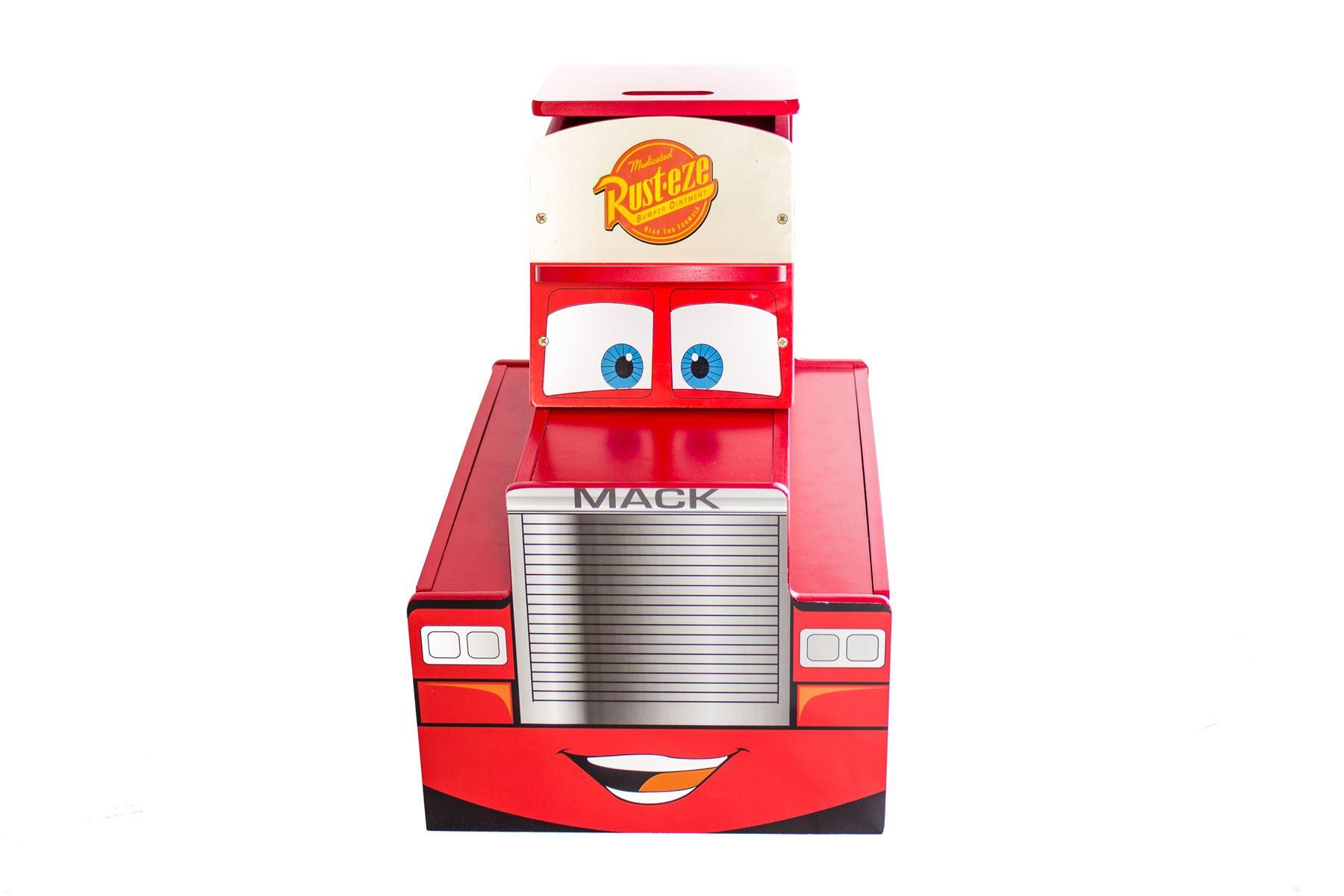 Disney Kids Cars Bench Childrens Toy Storage Kids Bedroom