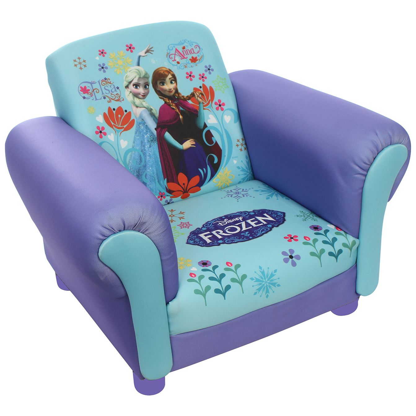 Children 39 s princess frozen elsa anna upholstered chair for Toddler chair