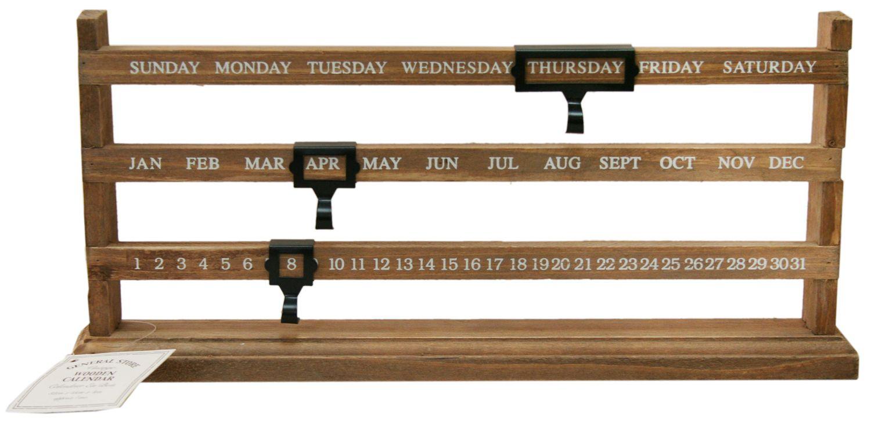 Detalles de Sliding Wood Perpetual Calendar