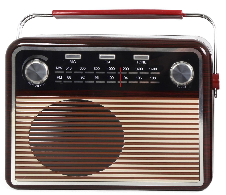 Retro Radio Shape Kitchen Storage Biscuit Cookie Tin