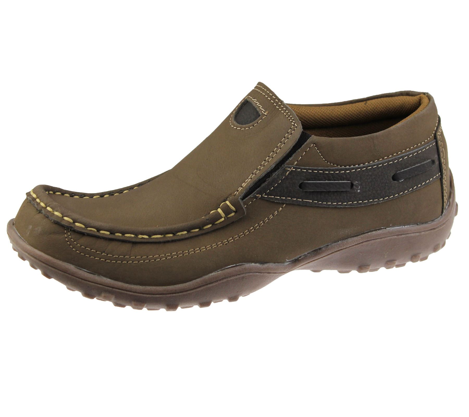 mens casual shoes slip on deck loafers smart walking