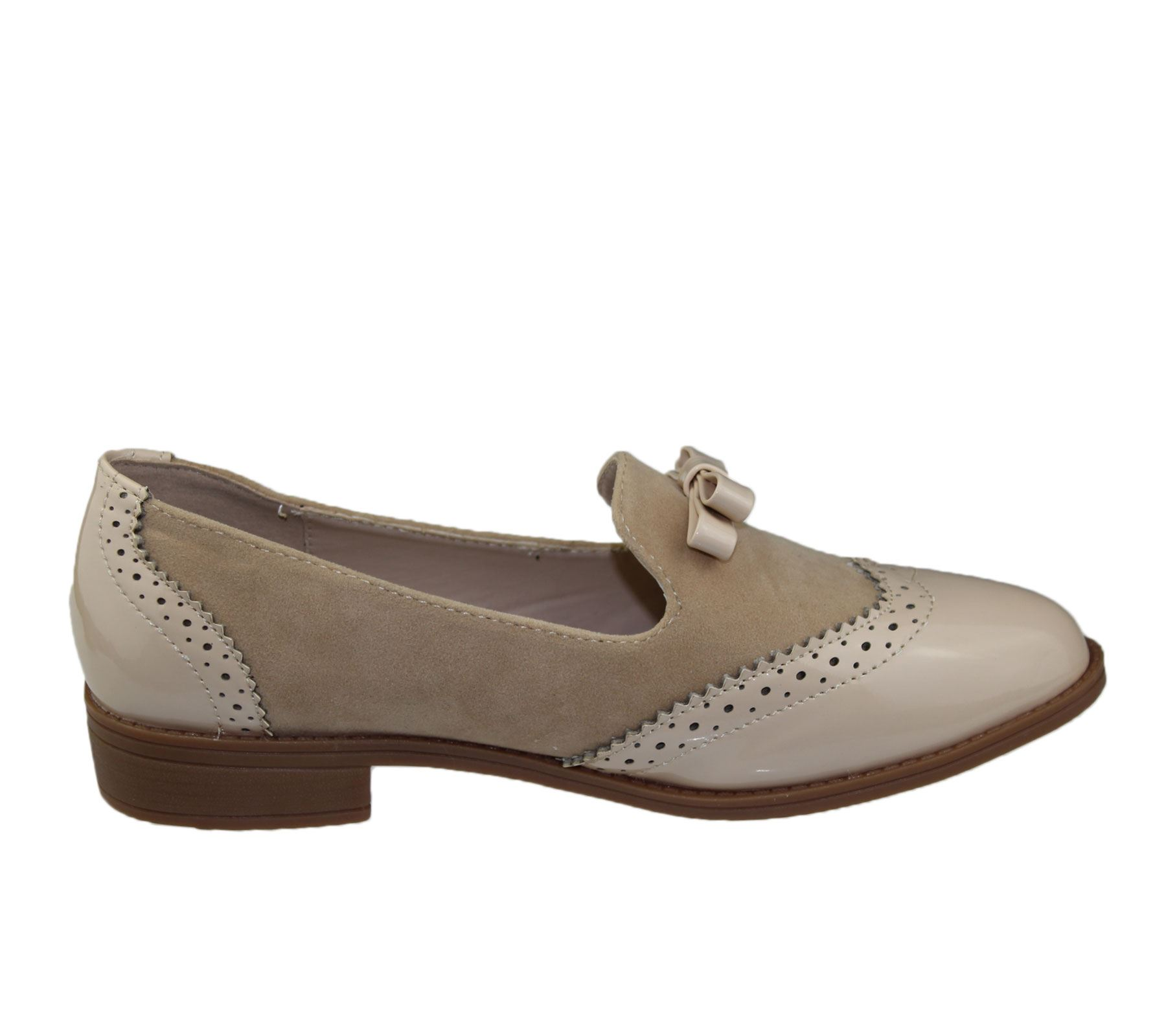 d24380b4d28 Womens Slip On Shoes Ladies Patent Suede Flat Oxford Loafers Brogues ...