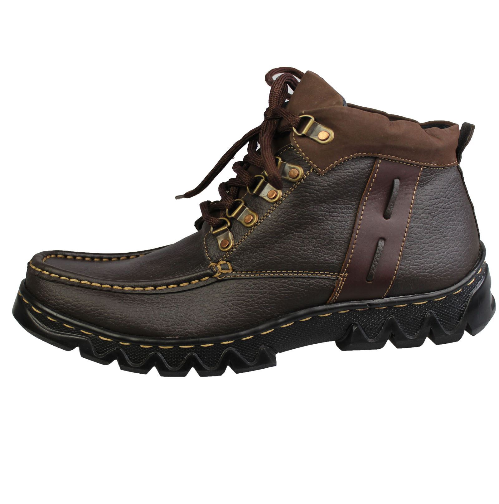 Boys Lace Up Boots Mild Leather Casual Comfort Boots Hiking Walking Shoes