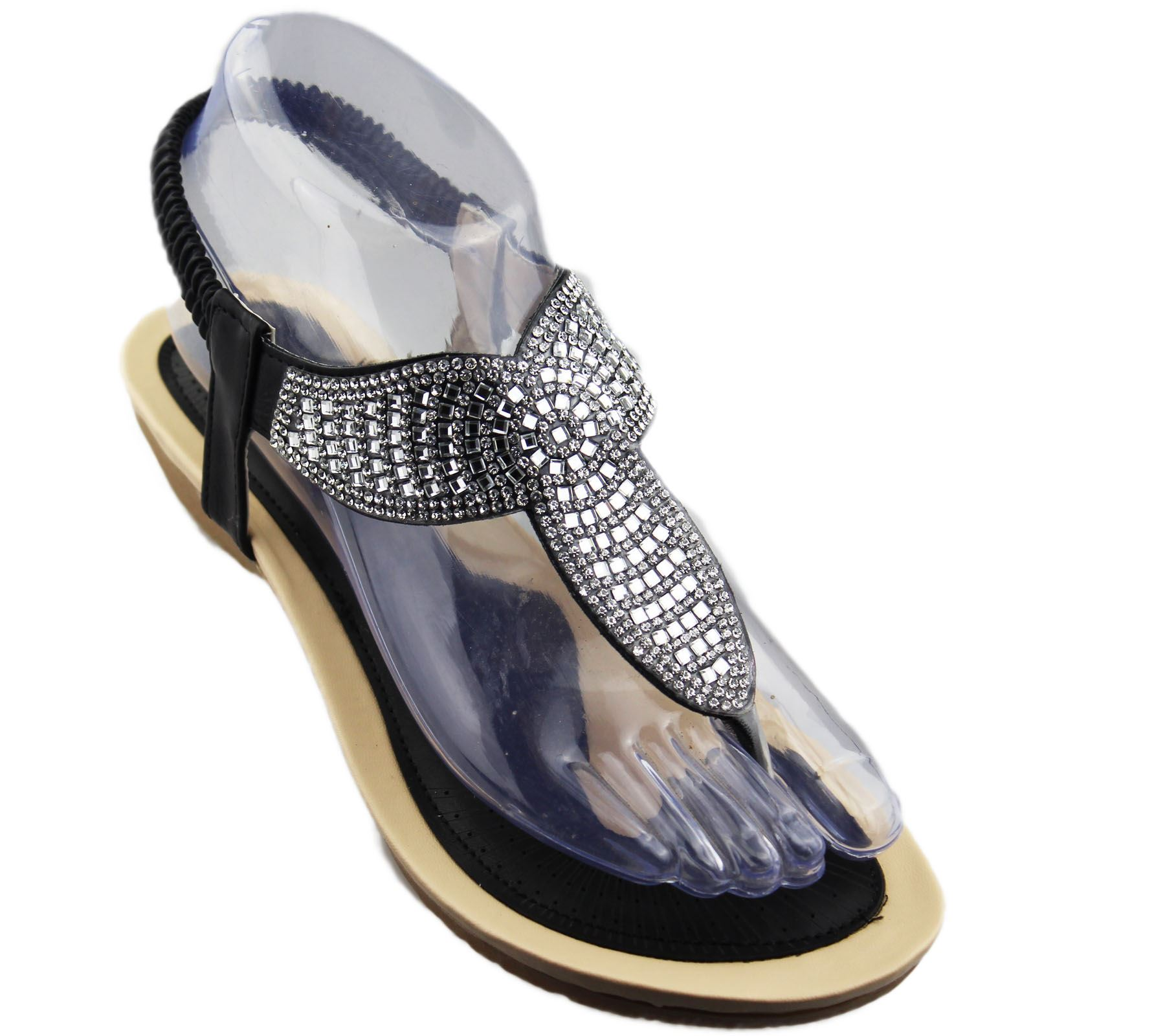 Wonderful Womens Loana Embellished Heeled Sandals