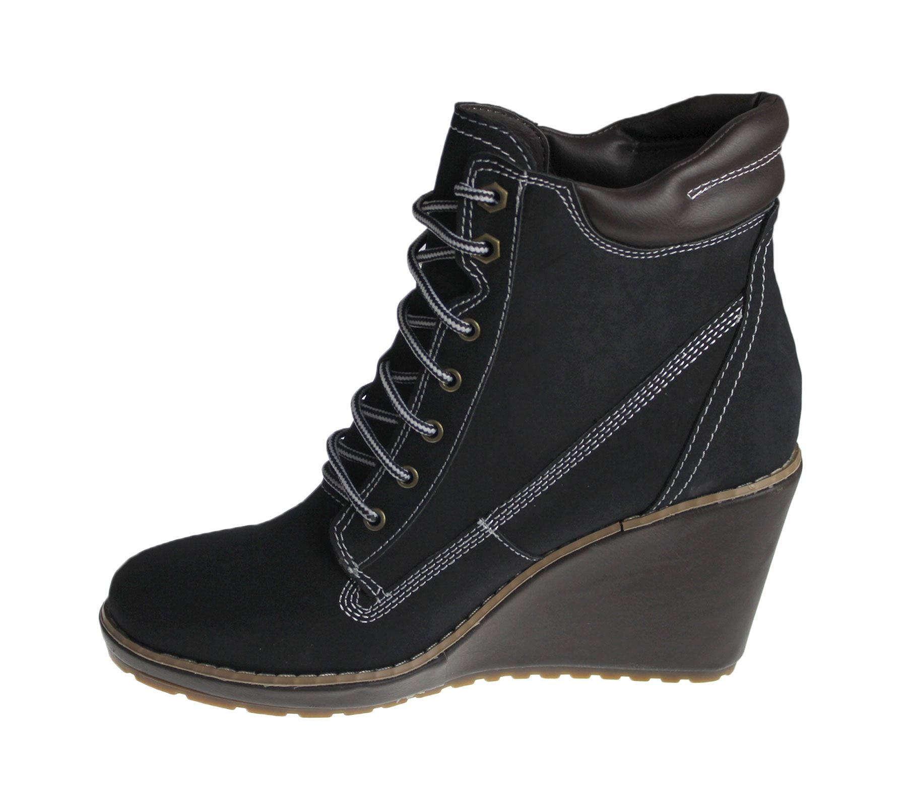 Womens Wedge Heel Boots Ladies High Top Desert Winter