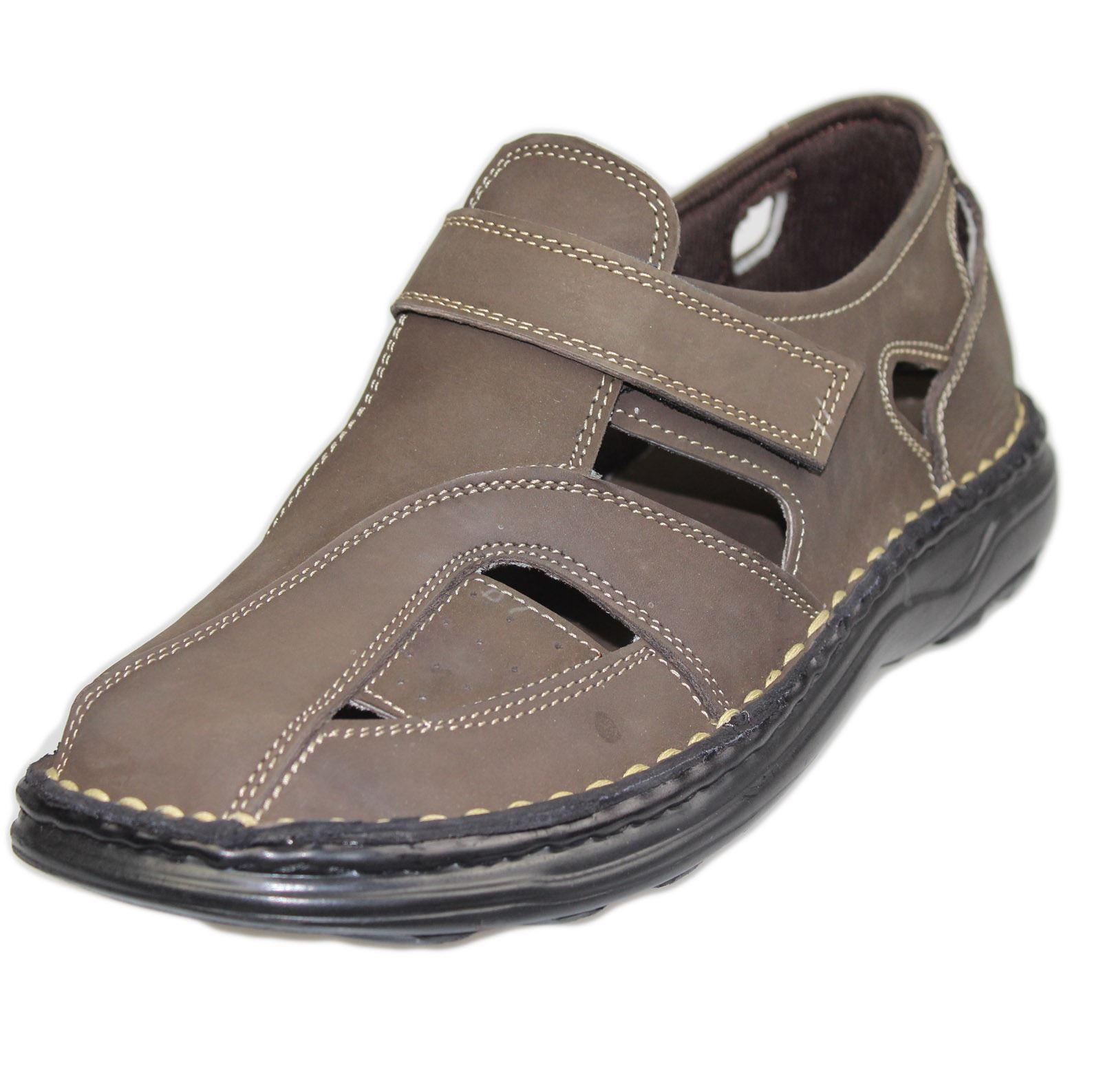 Mens Sandals Walking Fashion Casual Summer Beach Leather ...
