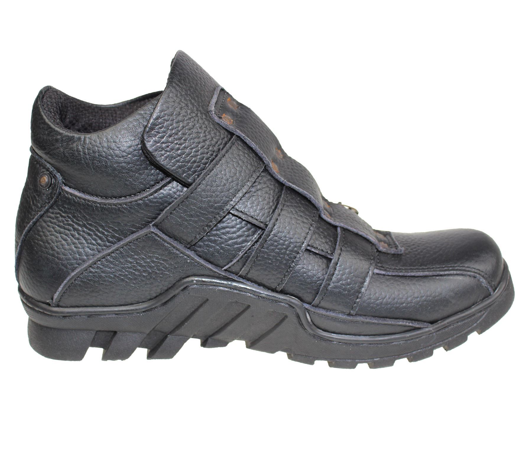 mens mild leather boots high top ankle hiking trail biker