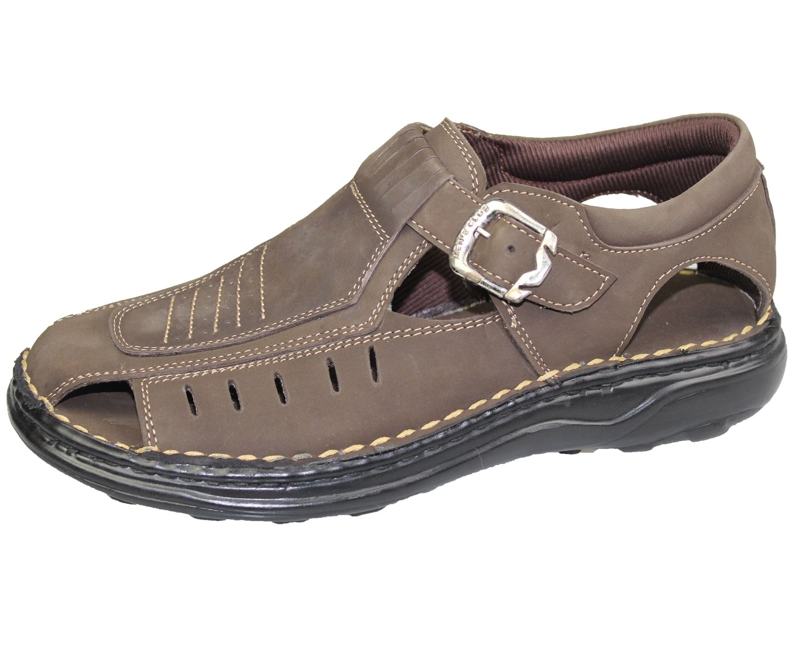 mens sandals wide fit nubuck leather summer fashion mules