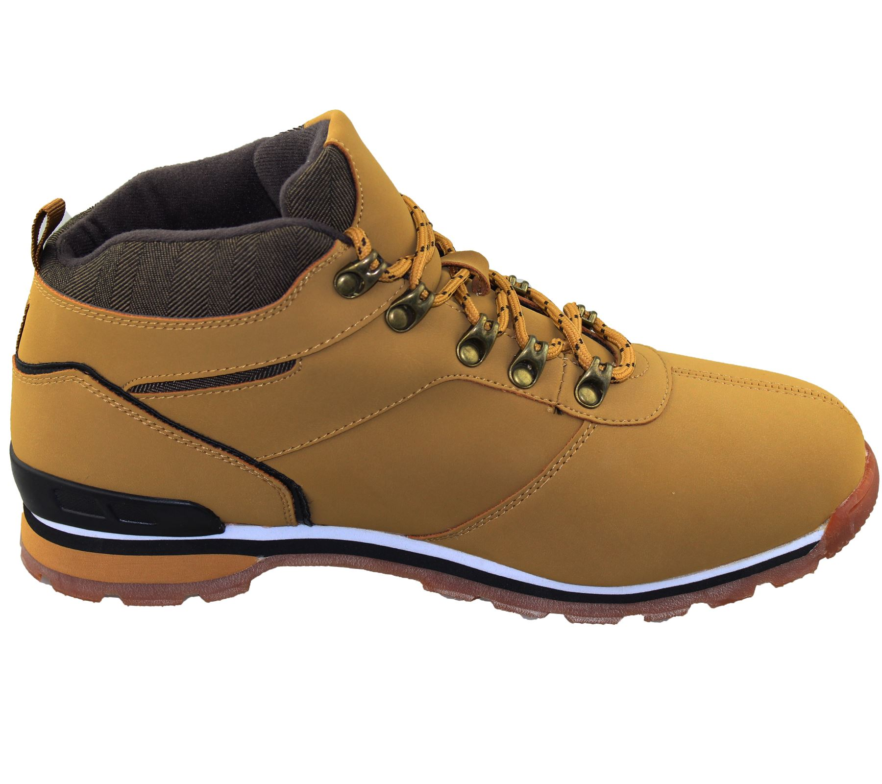 mens lace up boots winter combat hiking work high top