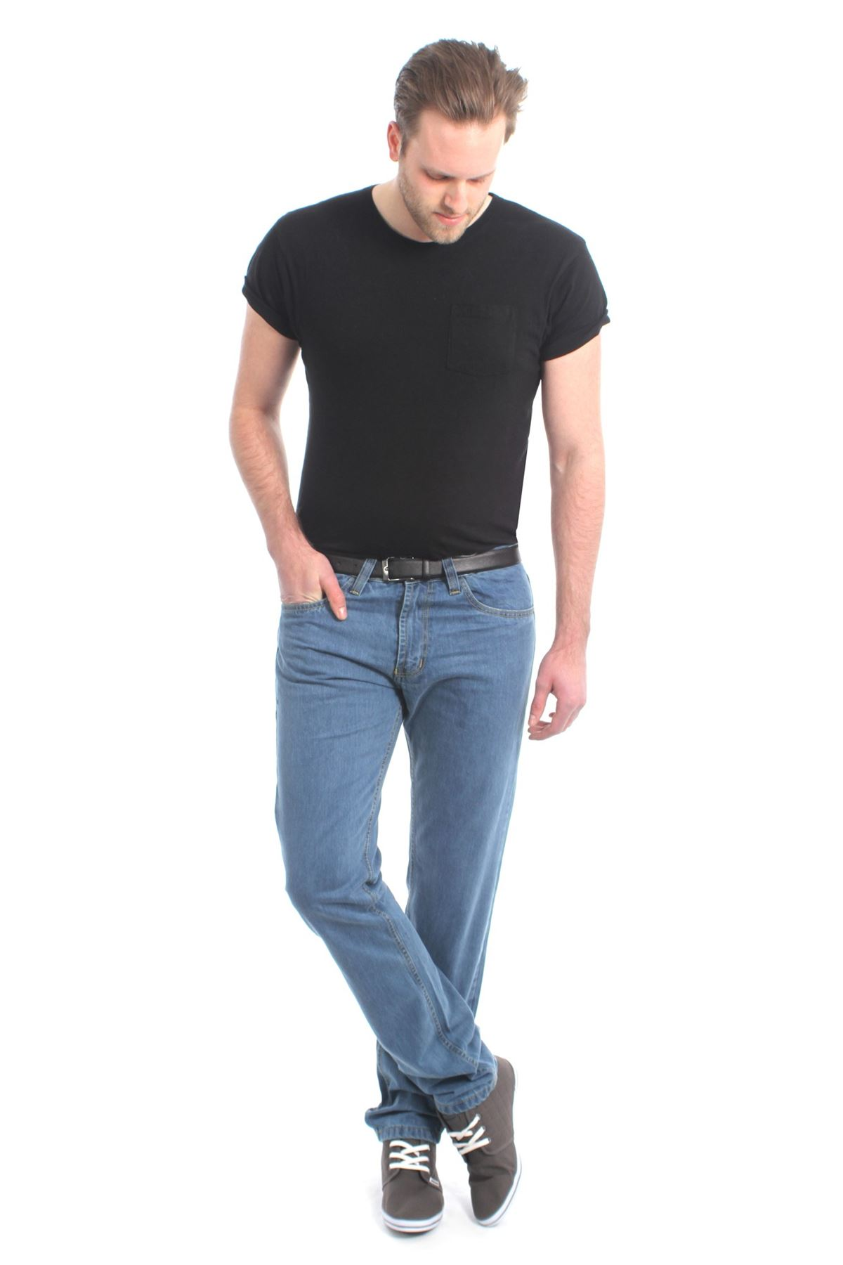 MENS STRAIGHT LEG REGULAR FIT DENIM JEANS BOYS CASUAL JEANS NEW KOLLACHE
