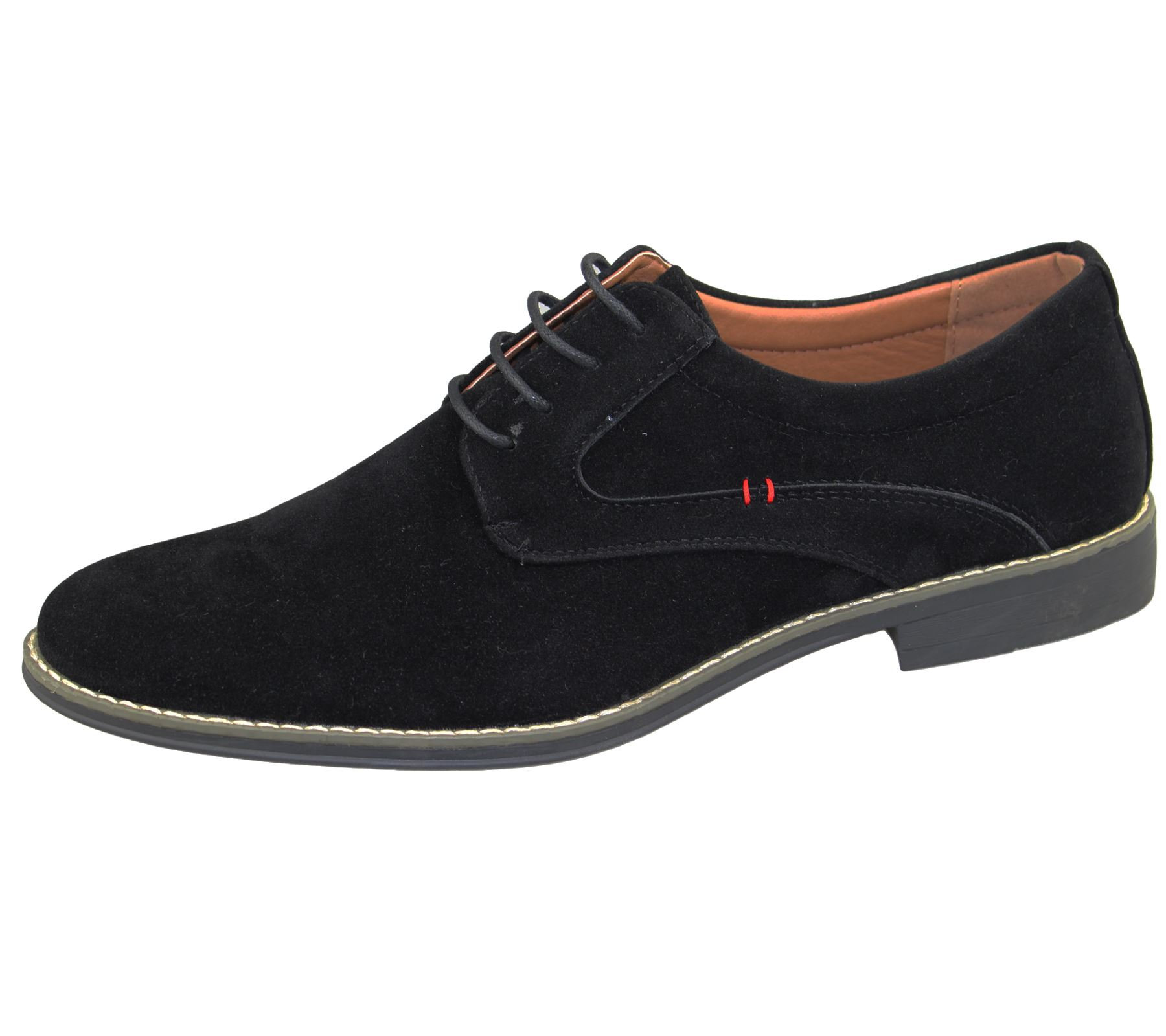 mens lace up formal shoes office wedding casual flat smart