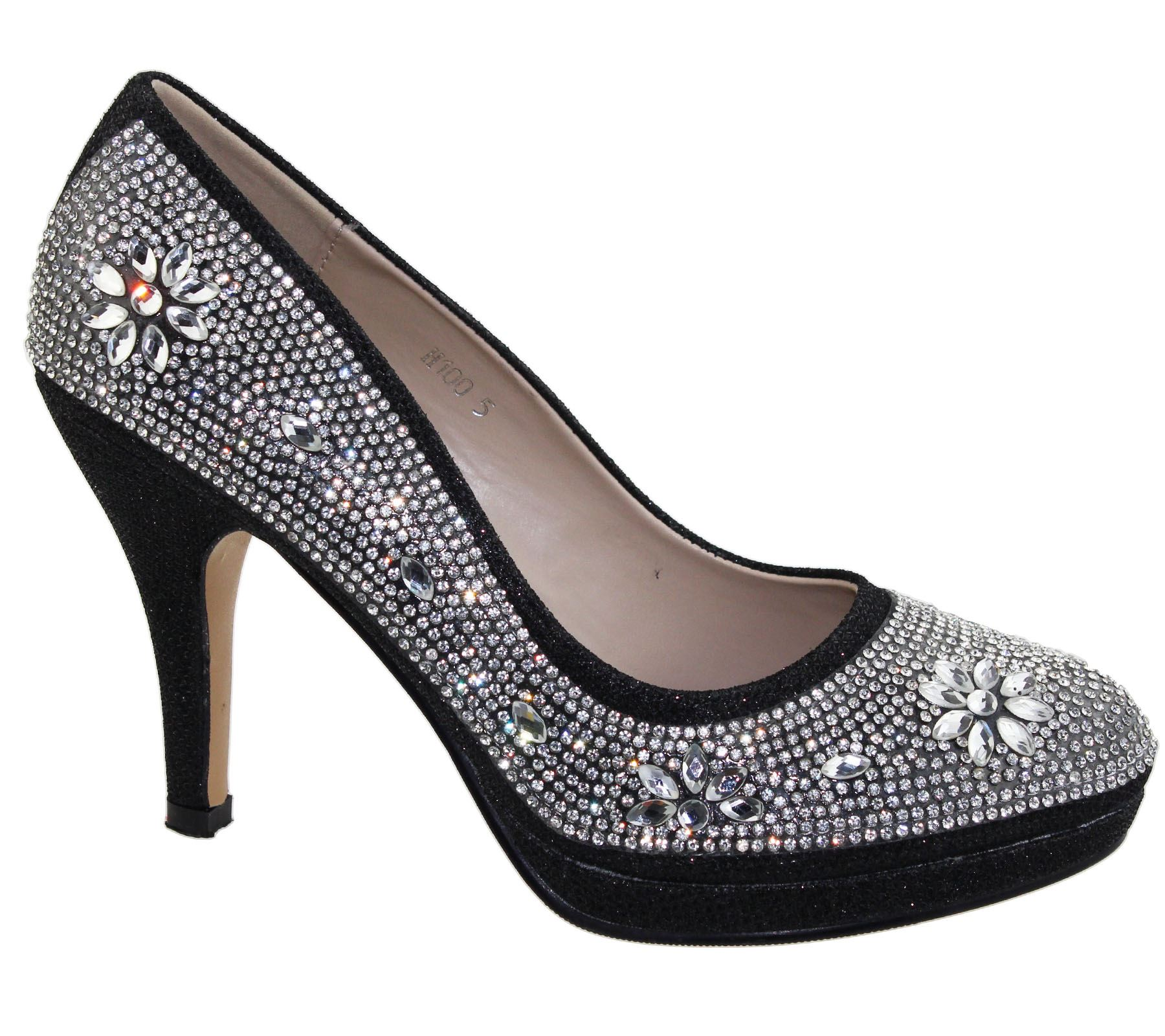 Womens-Platforms-High-Heels-Wedding-Bridal-Evening-Diamante-Ladies-Party-Shoes miniatura 4