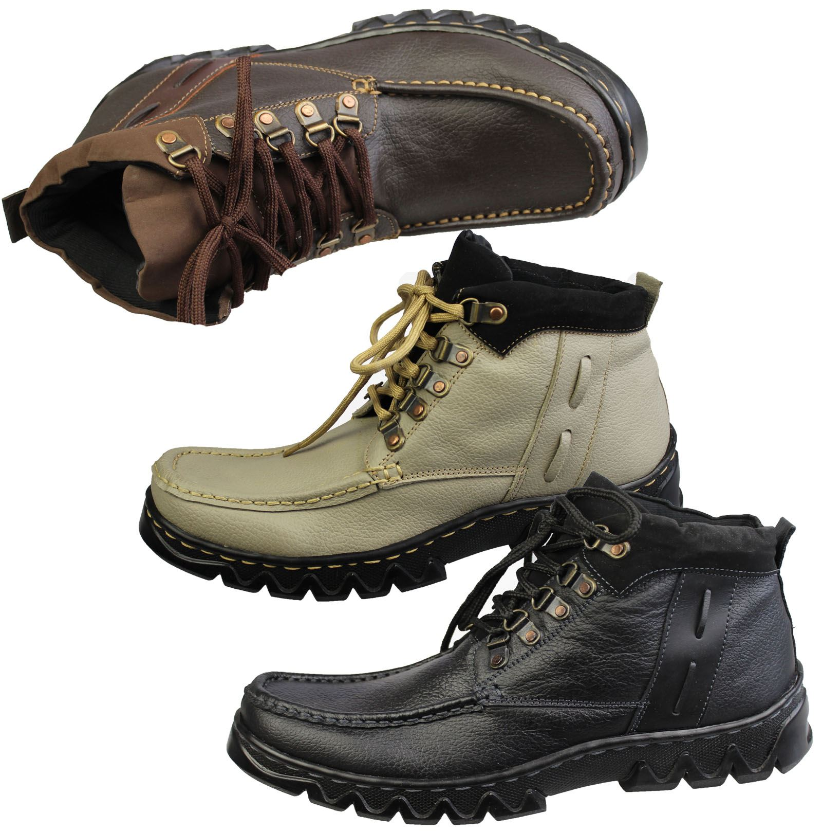 mens boys mild leather high top work boots sneakers ankle