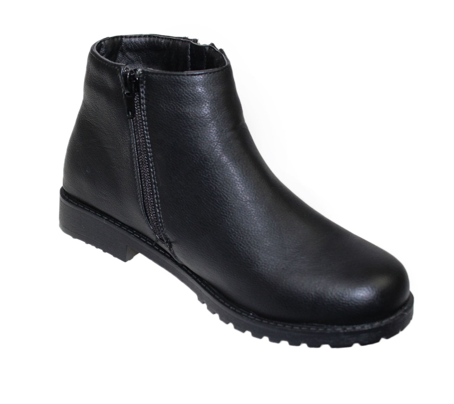 womens ankle boots zip up high top casual biker