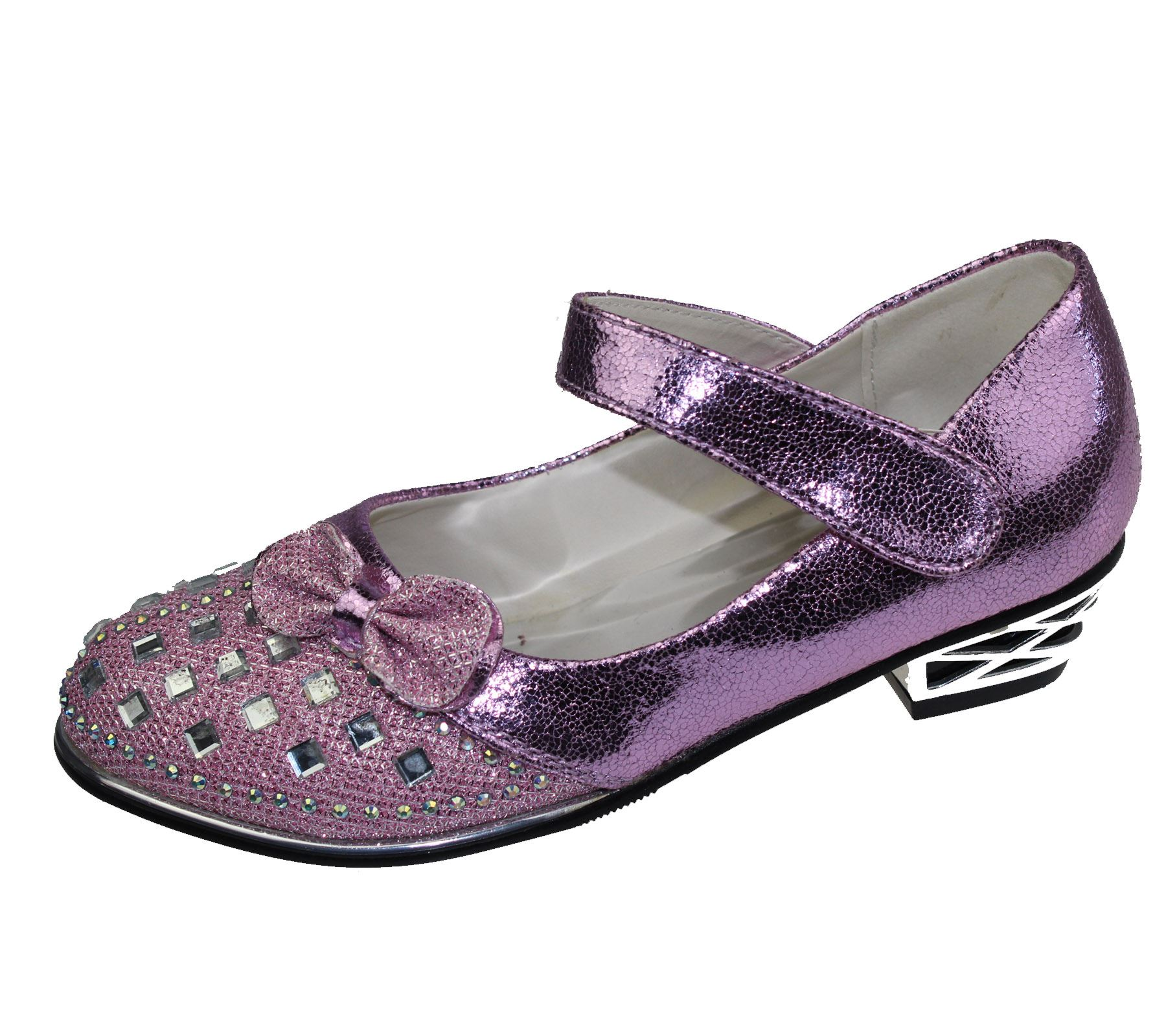 Girls diamante bridesmaid party wedding sandals infants for Girls dress shoes for wedding