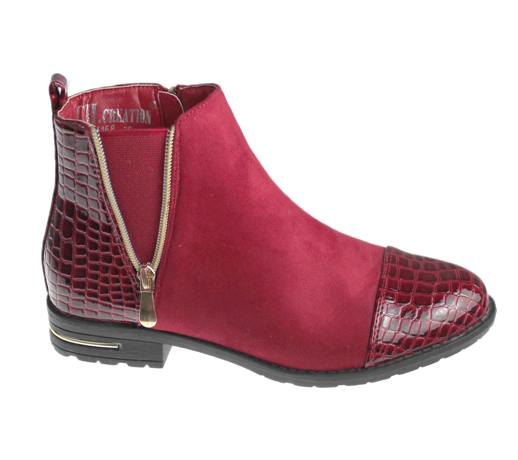 Womens Ankle Boots Ladies Desert Chelsea High Top Trainer