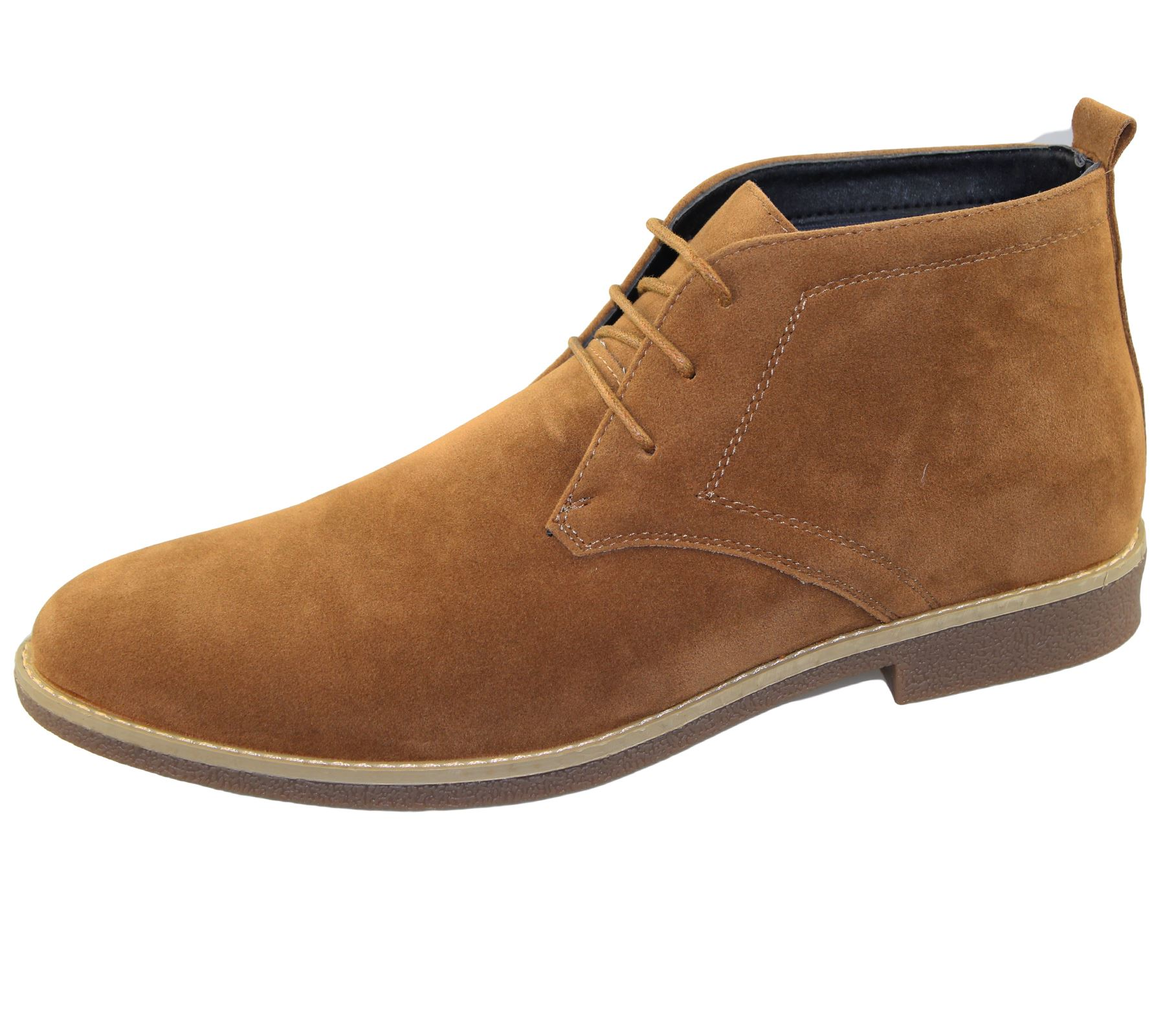 mens suede desert boots winter ankle high top classic casual lace up shoes size ebay. Black Bedroom Furniture Sets. Home Design Ideas