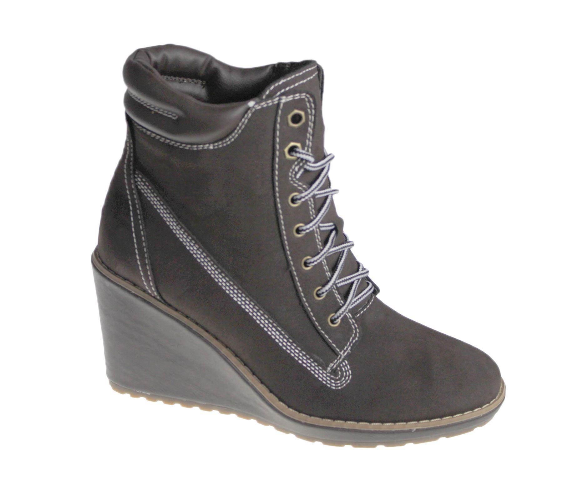 womens wedge heel boots high top desert winter
