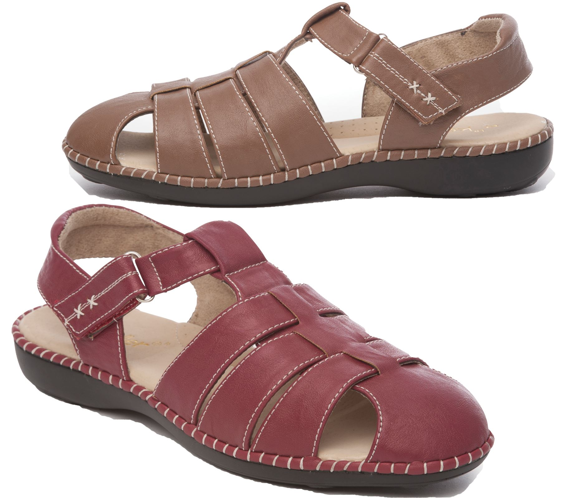 Women S Ladies Strappy Low Flat Heel Close Toe Mules