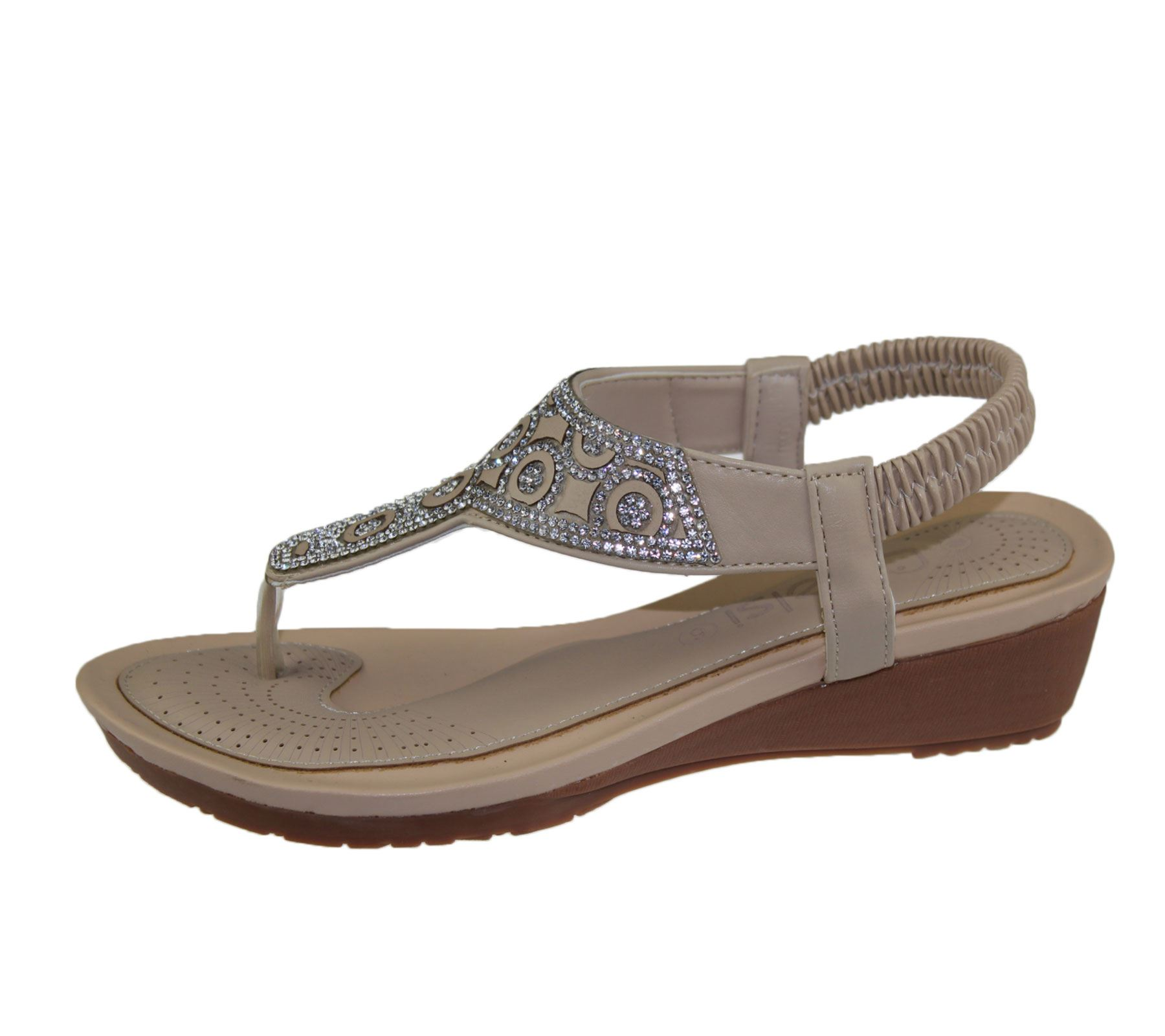 Excellent Womens Fiorene Flat Embellished Sandals