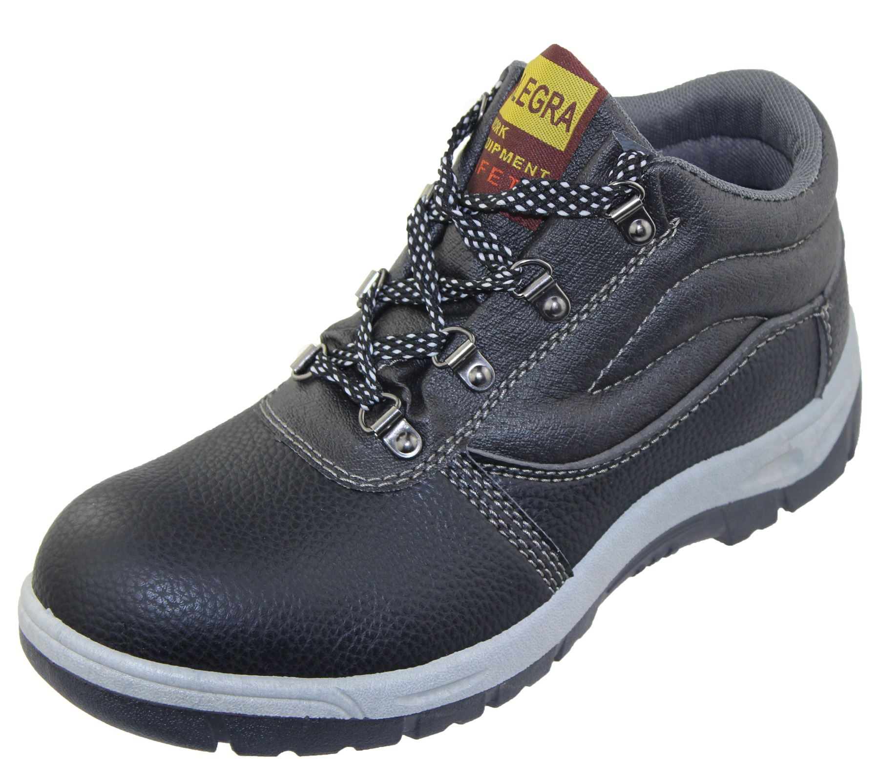 Mens Steel Toe Cap Work Boots Winter Combat Hiking High Top Ankle Shoes Size | EBay