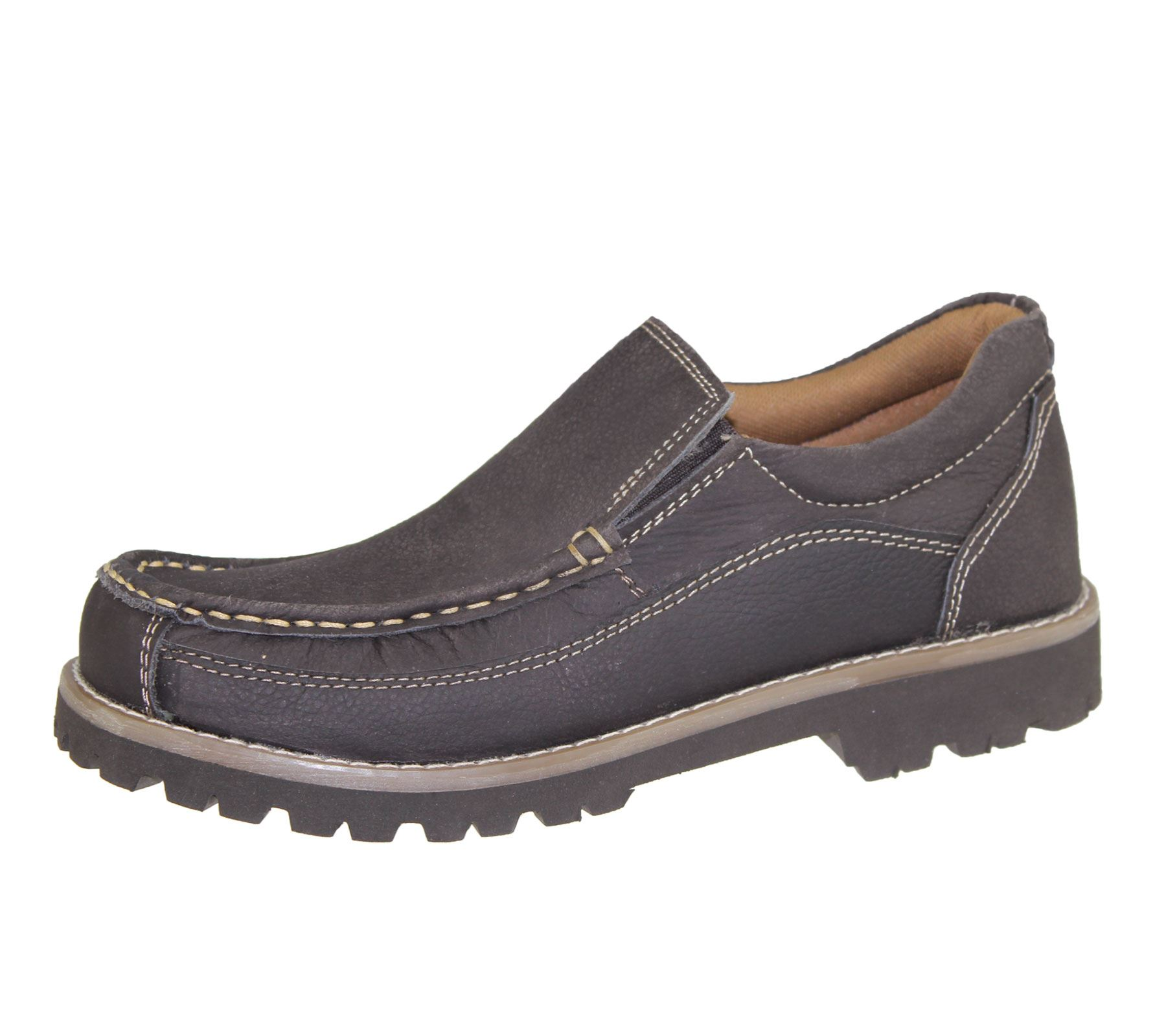 Boys Leather Slip On Deck Shoes
