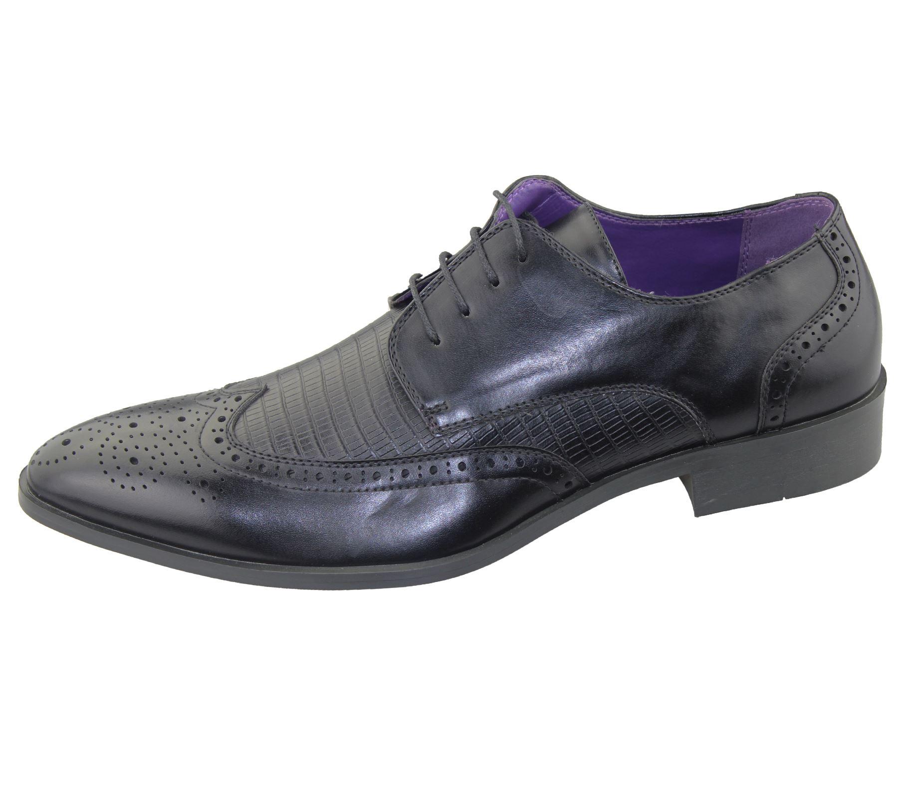 Mens Brogue Shoes fice Wedding Casual Formal Smart Dress