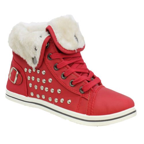 Girls-Boots-Womens-Warm-Lined-High-Top-Ankle-Trainer-Ladies-Winter-Shoes-Size miniatura 61
