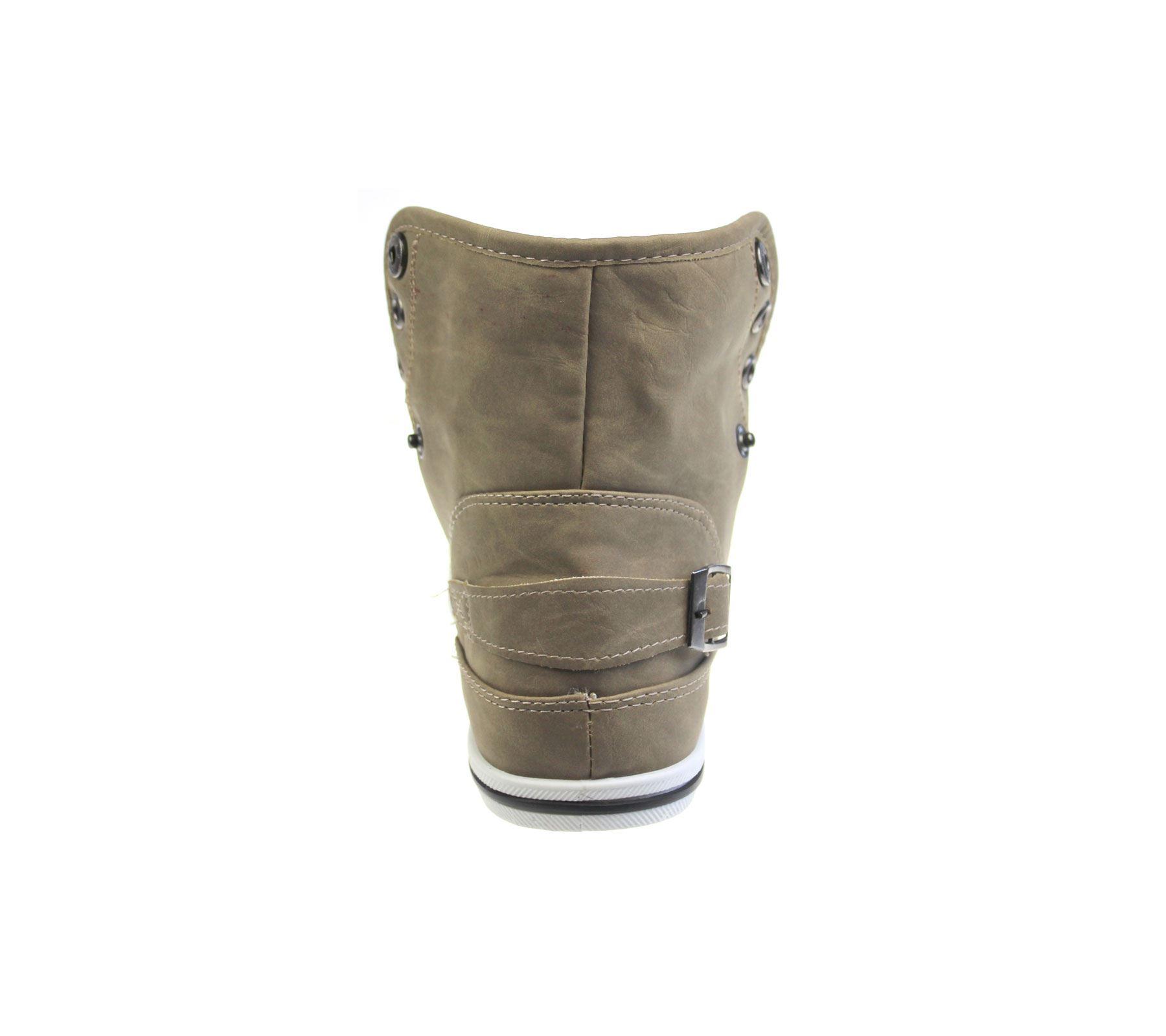 Para Mujer Plana Alta Top Plimsole Bombas Trainer señoras Lace Up Lona Zapatos Talla
