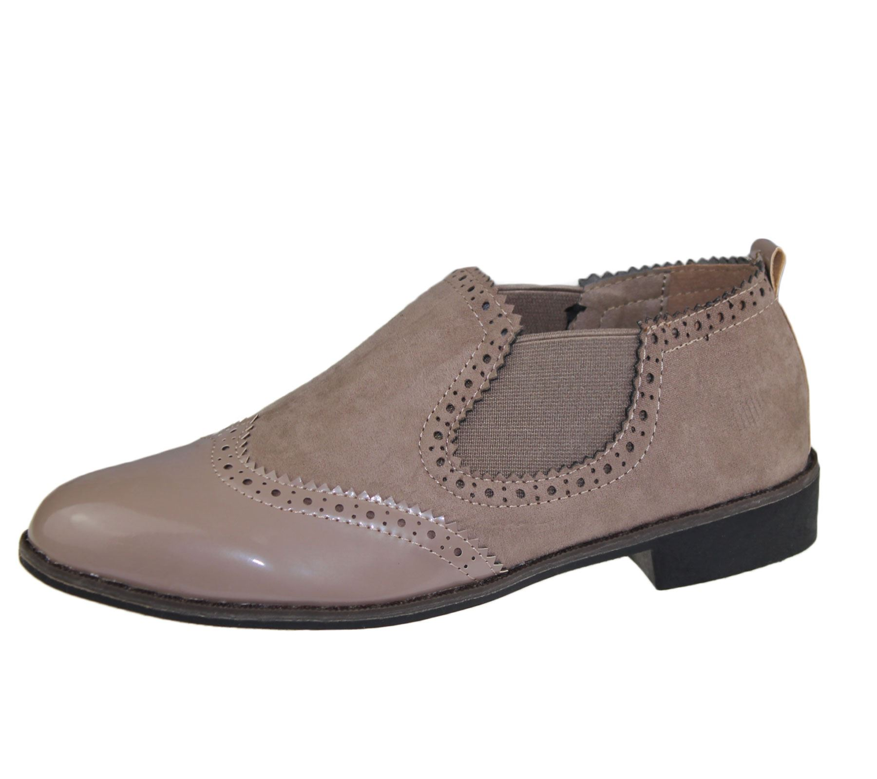 Womens Black Oxford Flat Shoes